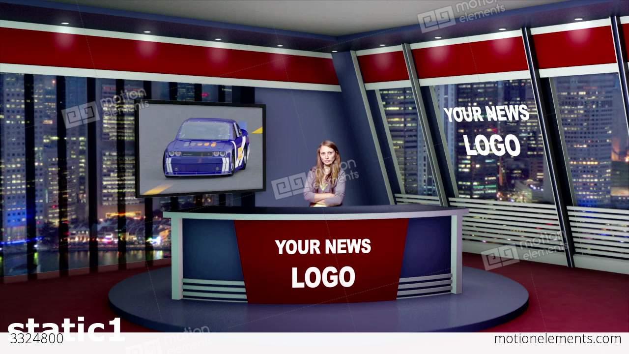 Virtual News Studio 3 D Set After Effects templates | 3324800  Virtual News St...