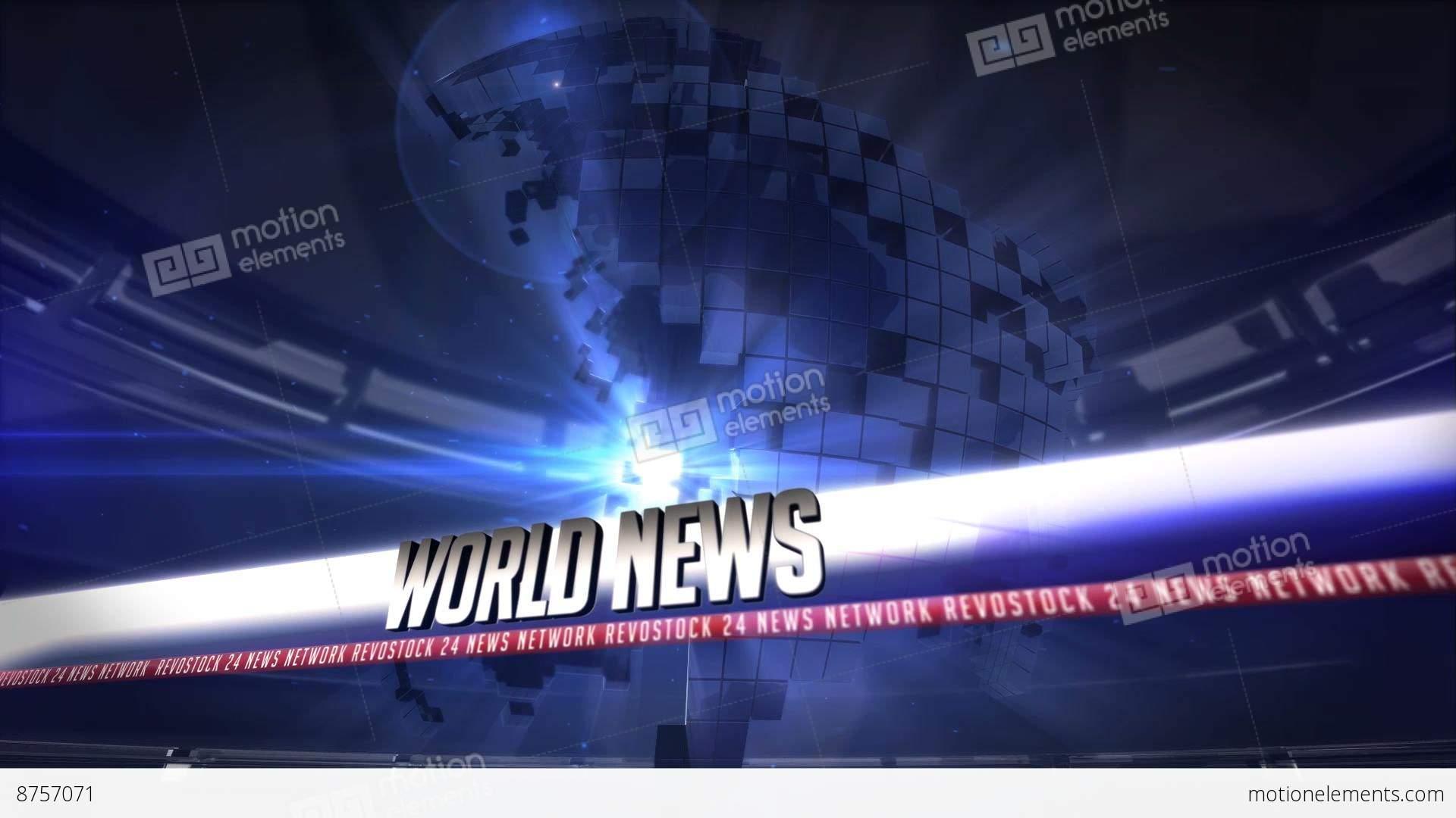 broadcast news 24 after effects templates 8757071. Black Bedroom Furniture Sets. Home Design Ideas