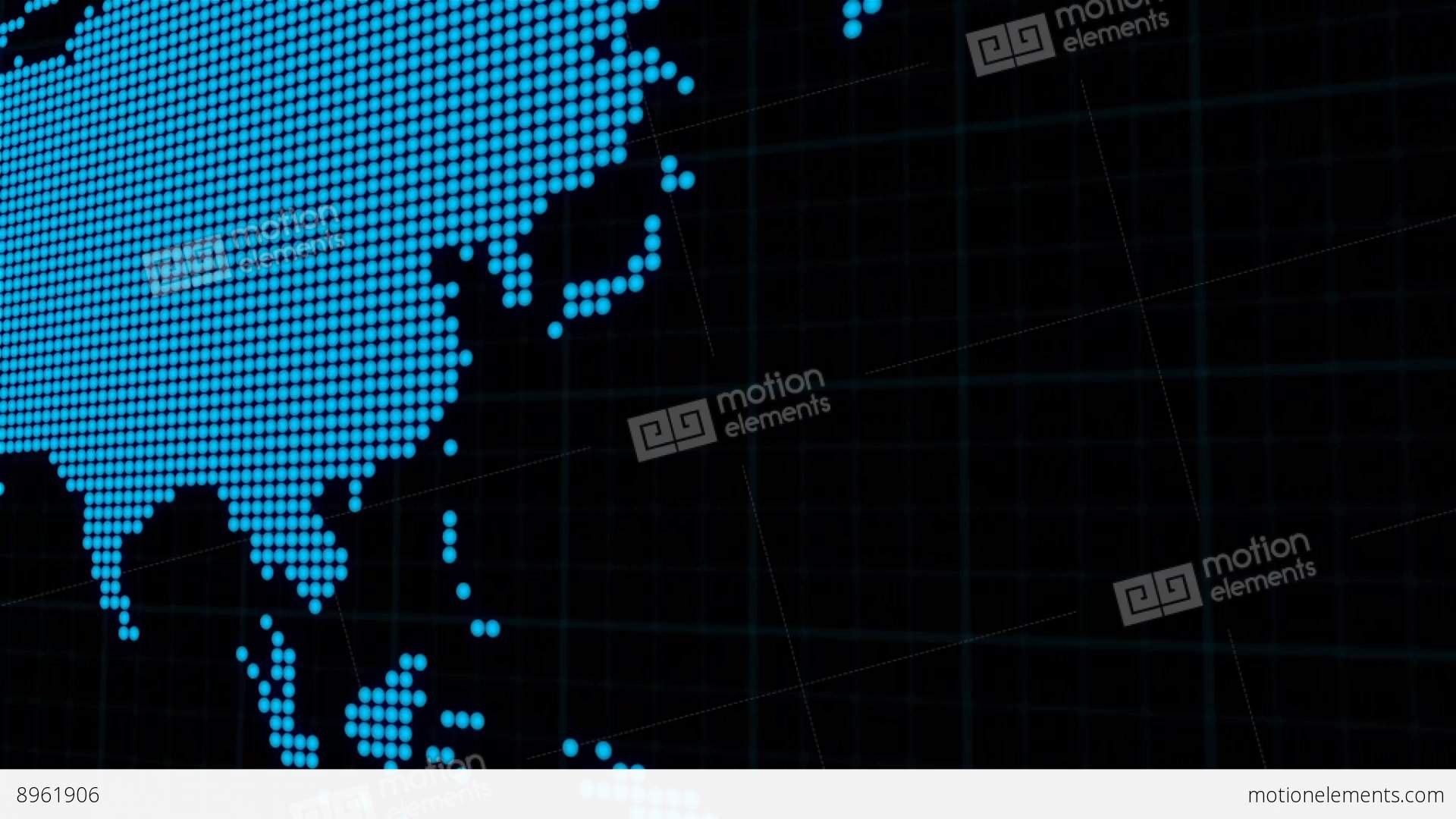 Science Fiction Graphic User Interface Of World Map Design ...
