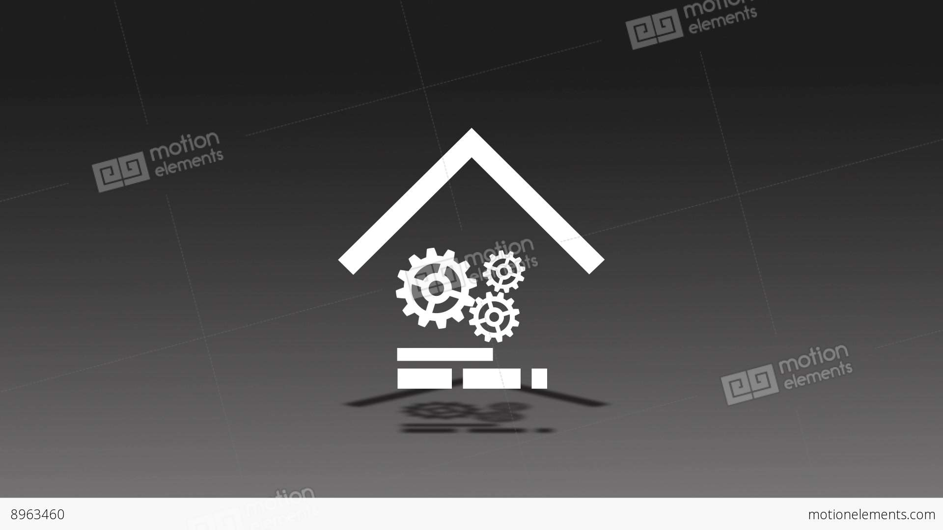 Mechanical Gear Home Animation For Intro And Logo Reveal After ...