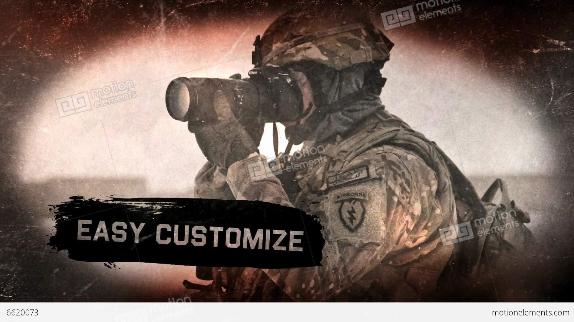 military grunge promo after effects templates 6620073. Black Bedroom Furniture Sets. Home Design Ideas