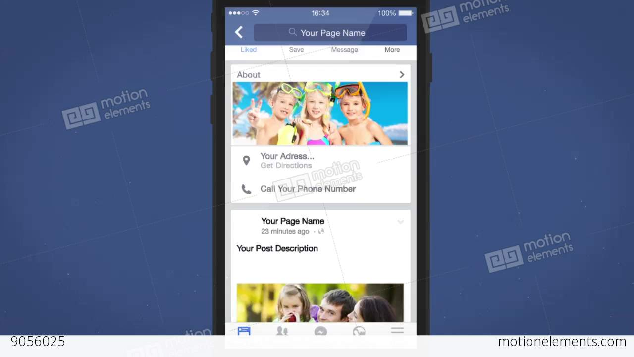 facebook mobile intro - after effects template after effects, Powerpoint templates