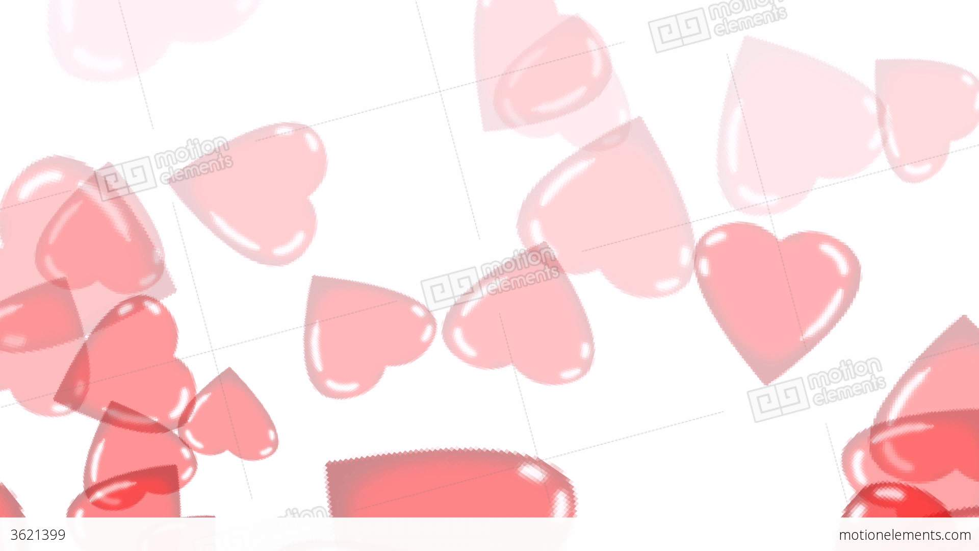 Clip Art Line Of Hearts : Floating hearts animation stock