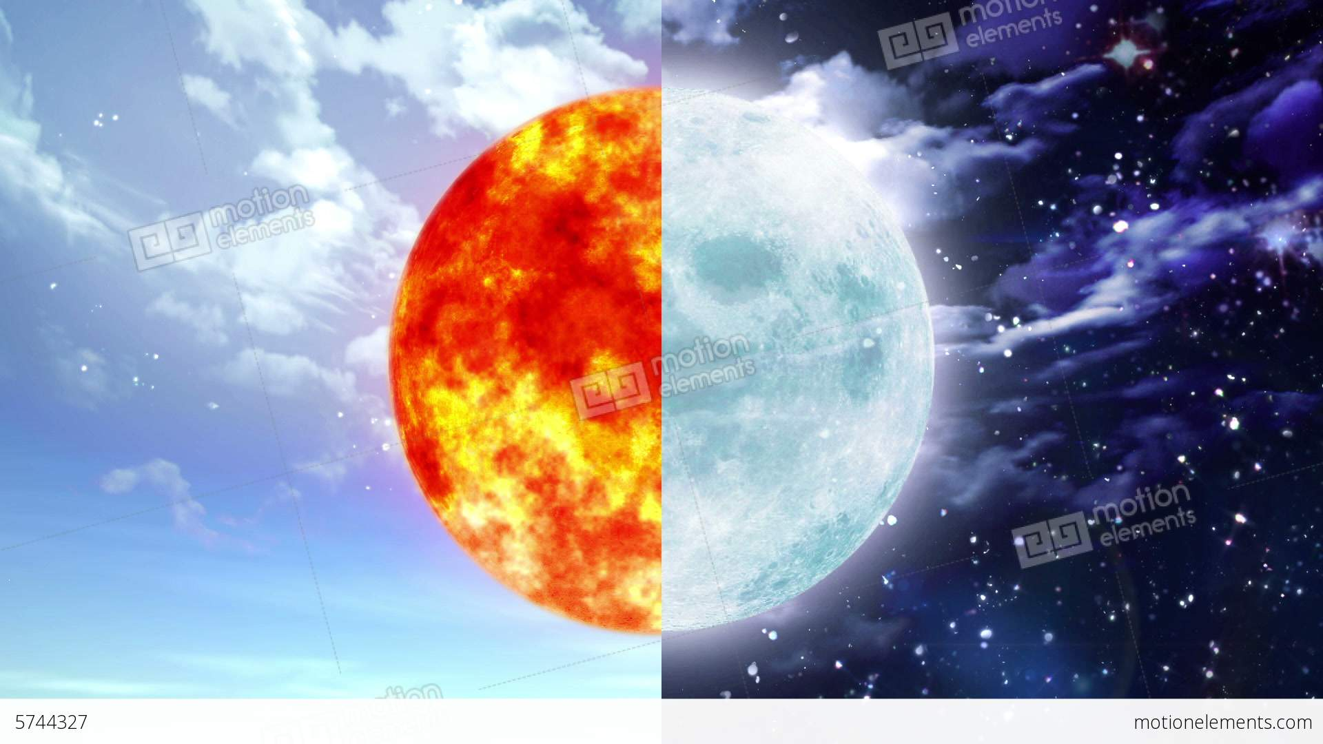 Sun And Moon Stock Animation | 5744327