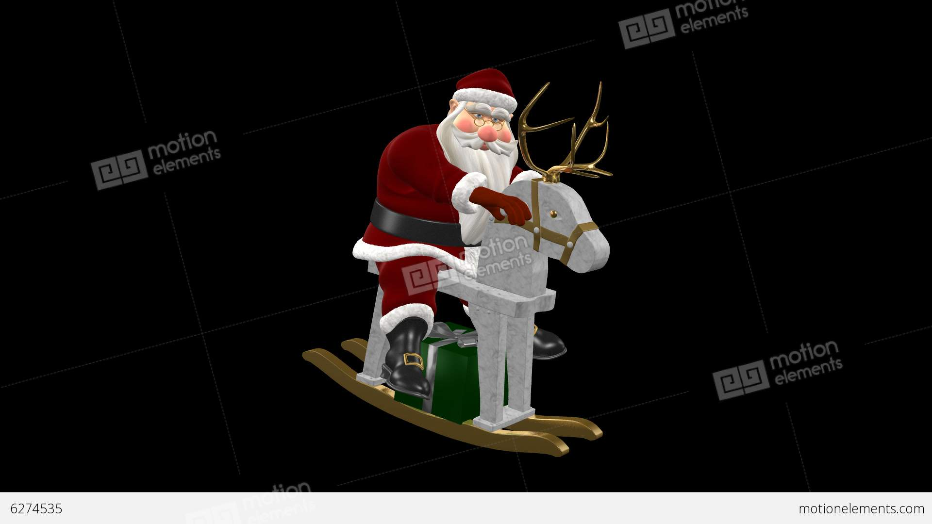 The holiday aisle christmas inflatable santa claus on sleigh with