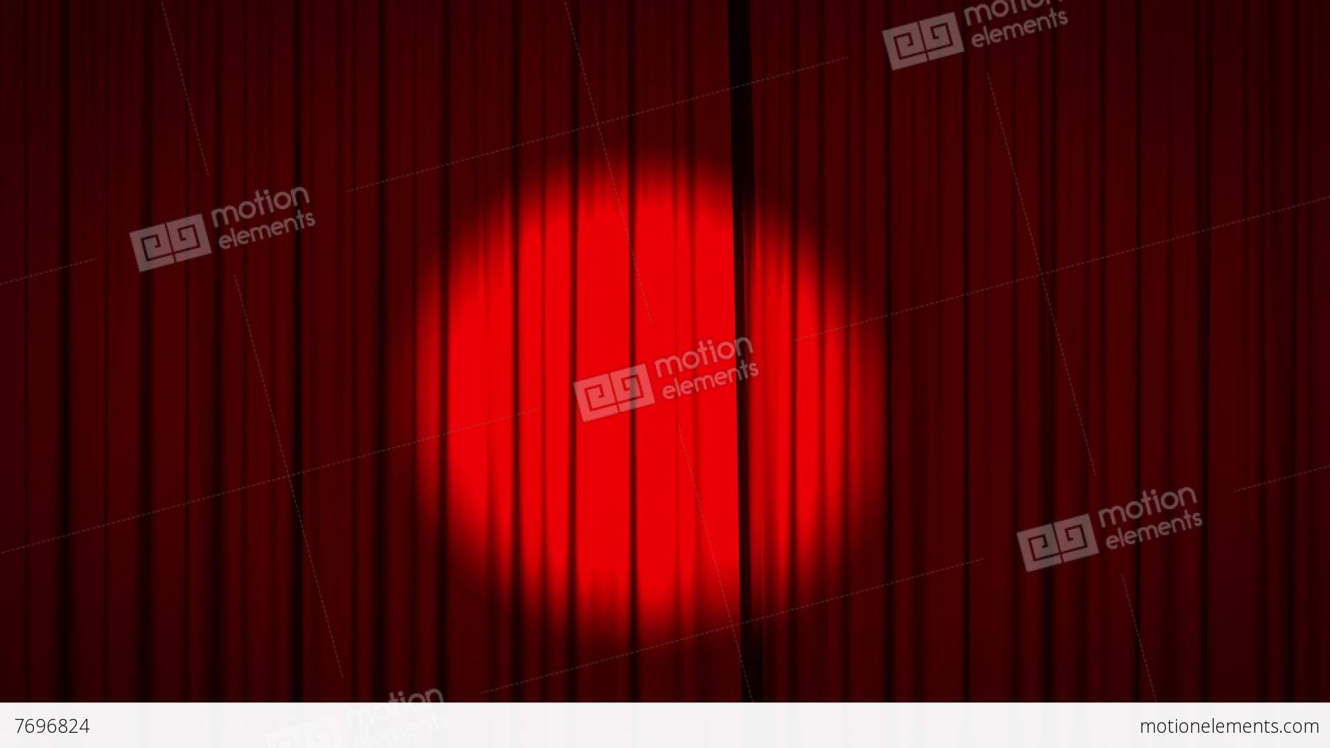 Red Curtain Spotlight - Red curtain with spotlight opening stock video footage