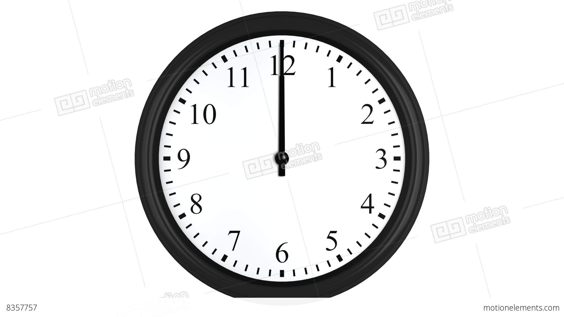 Animated Clock With A Green Time Interval Stock Animation ...