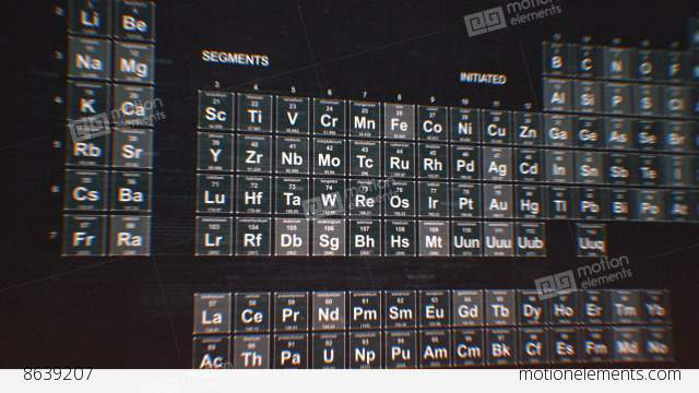 Periodic table of the elements stock animation 8639207 periodic table of the elements stock video footage urtaz Gallery