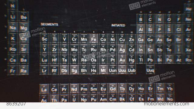 Periodic table of the elements stock animation 8639207 periodic table of the elements stock video footage urtaz Image collections