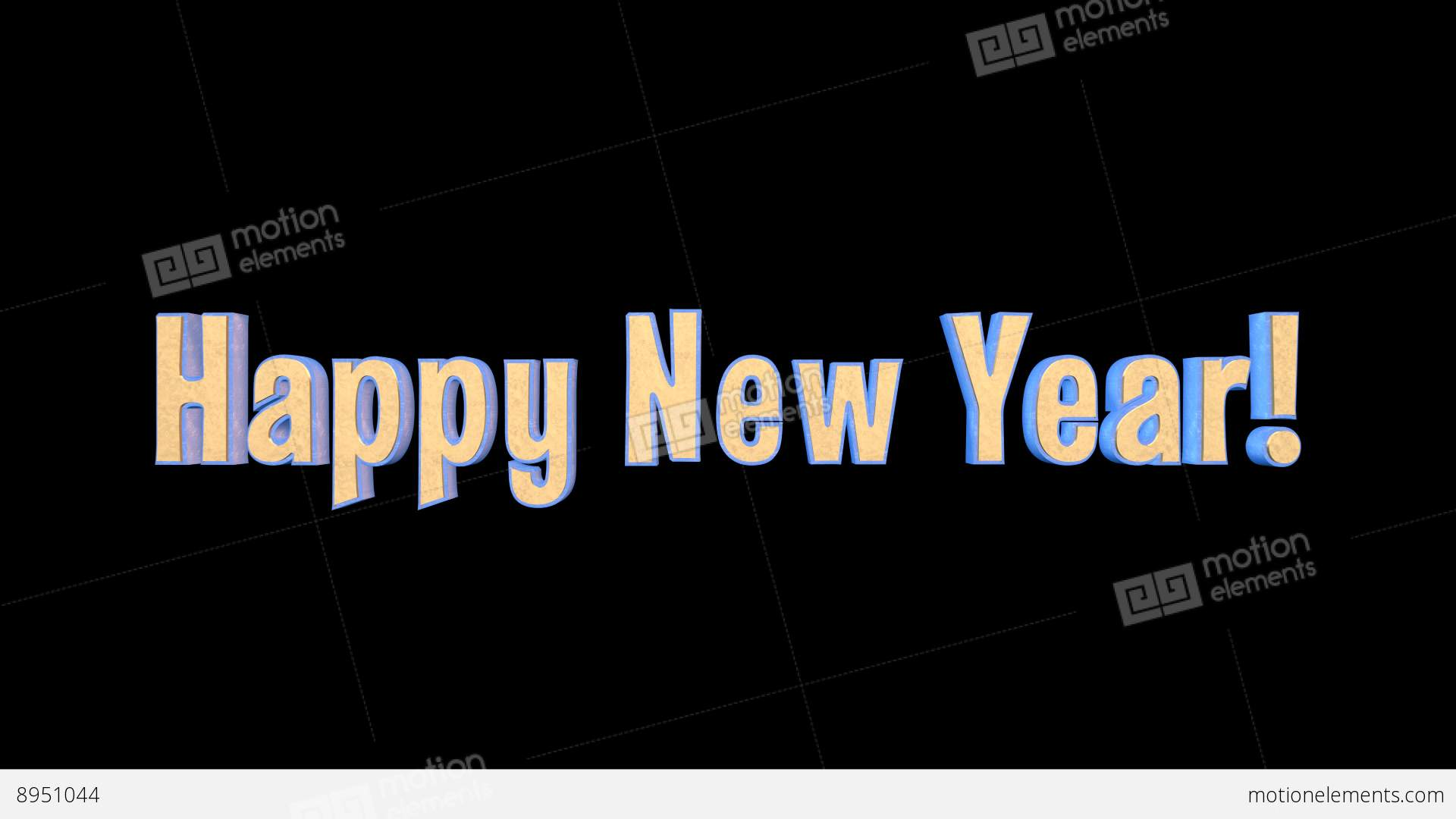Happy New Year Merry Christmas Epic 3 D Gold Words +... Stock Video