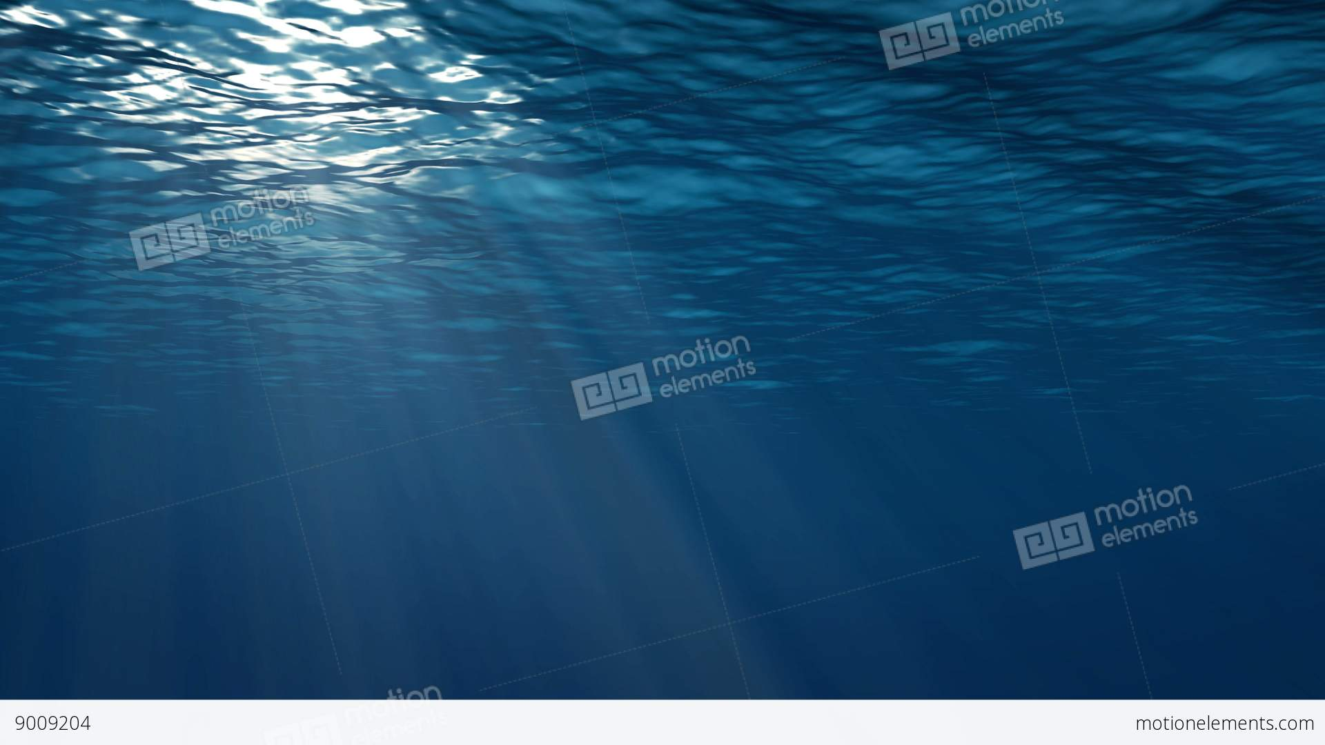 realistic underwater scene with sun rays and nice glowing light