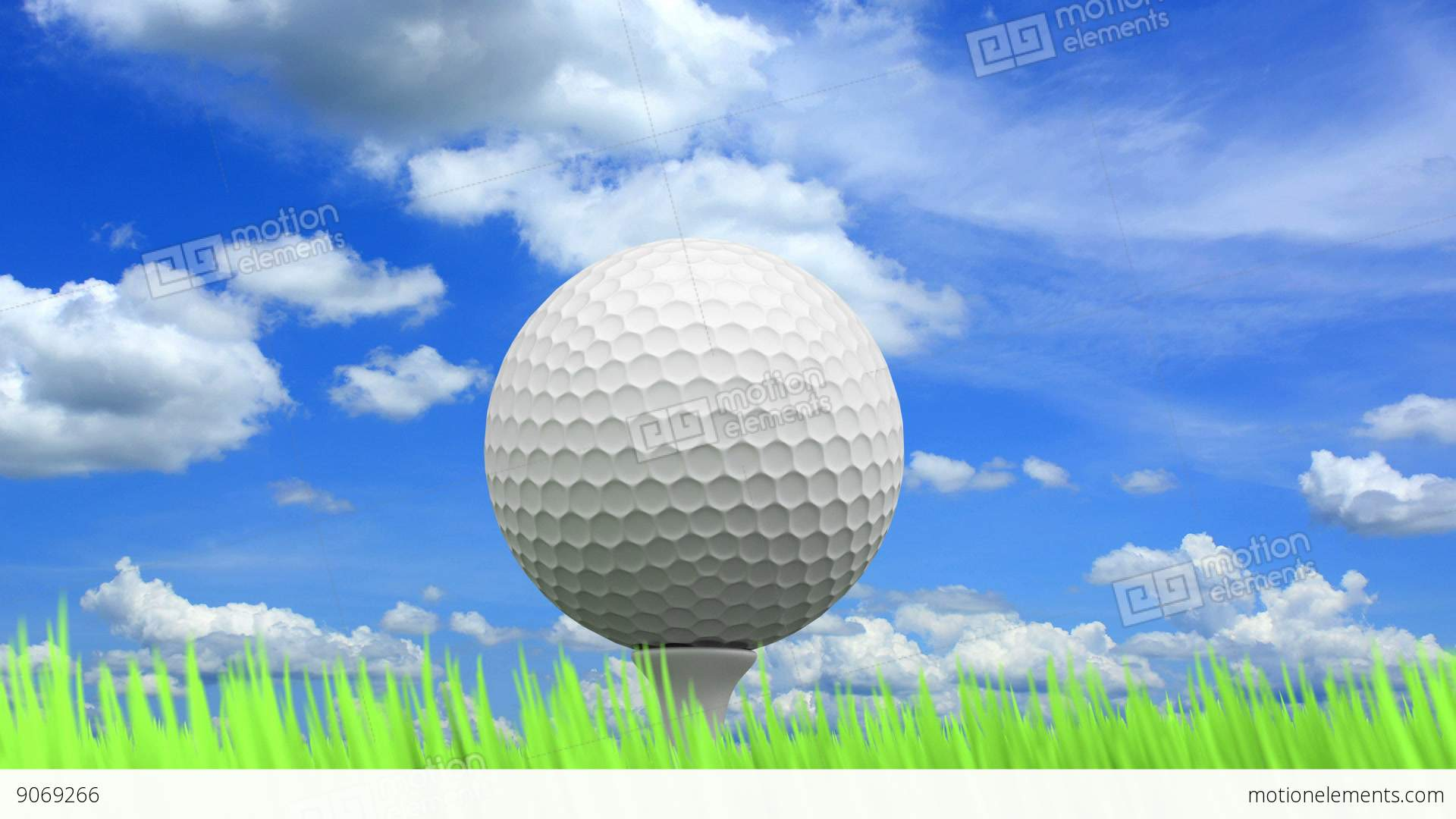 golf ball animation stock animation