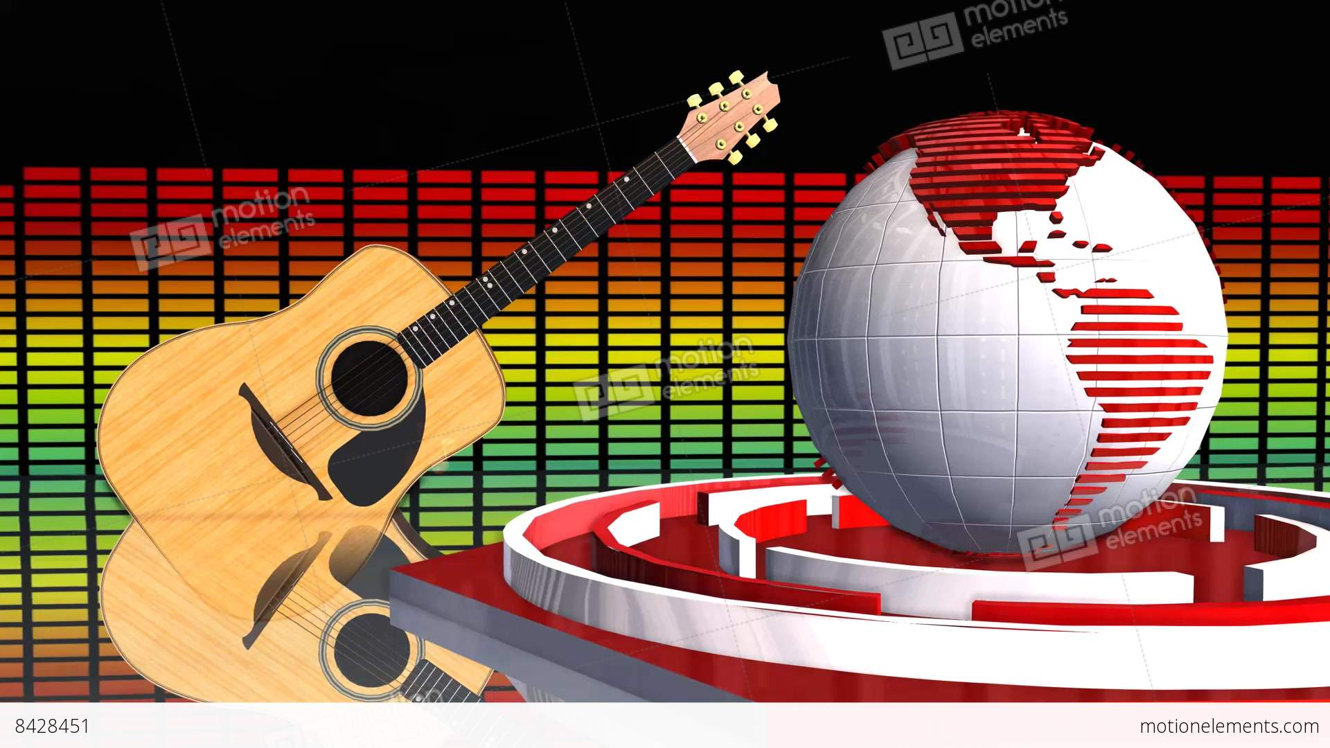 Global News Music Update Broadcast Television D Animation Stock Video Footage