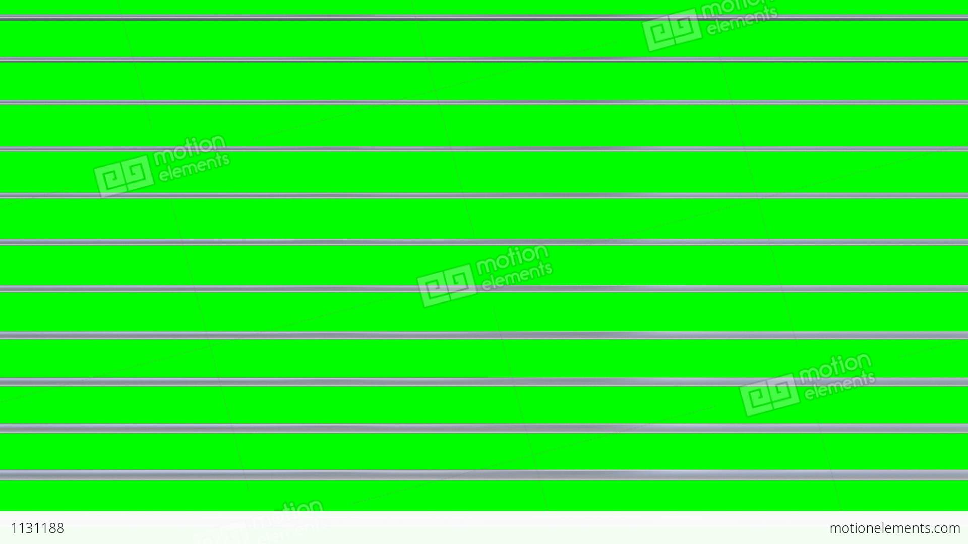 Opening And Closing Window Blinds On Green Screen Stock