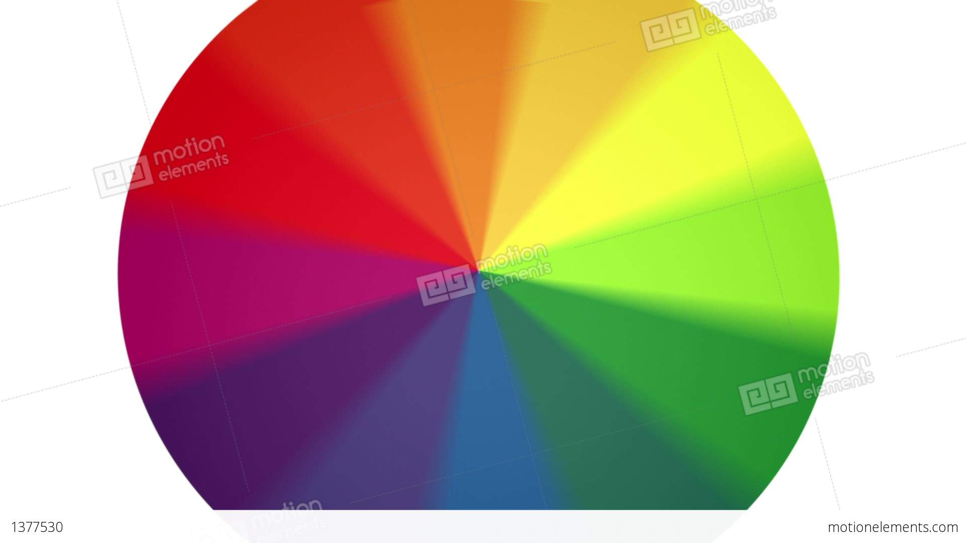 spinning color wheel contains looping section stock