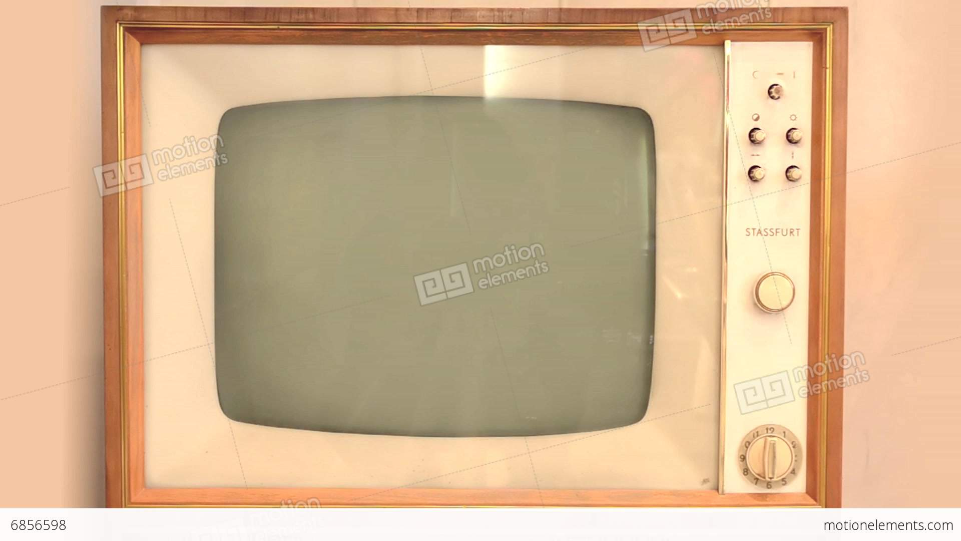 retro tv with alpha channel stock video footage
