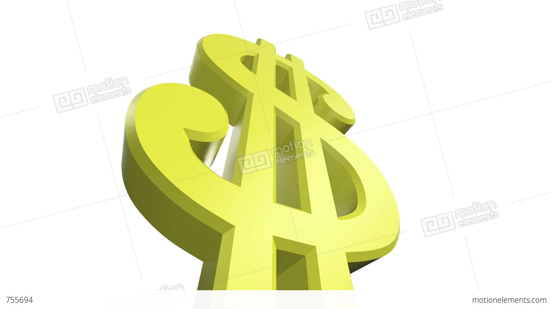 Crumbling Dollar Sign Stock Animation 755694