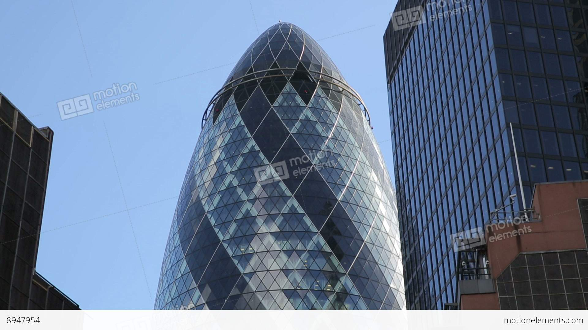 the gherkin or swiss re building one stock video footage