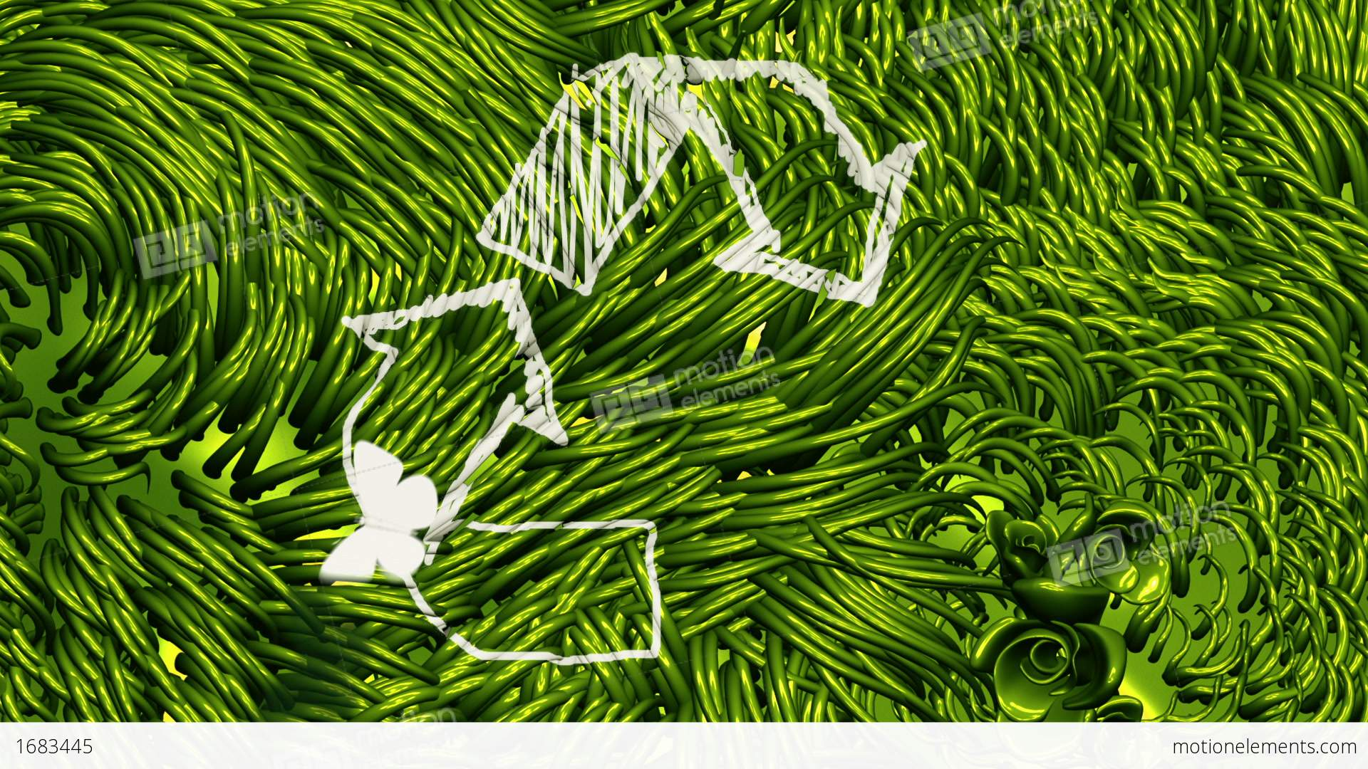 Recycle sign scribbling on green environment stock animation 1683445 recycle sign scribbling on green environment stock video footage buycottarizona Choice Image