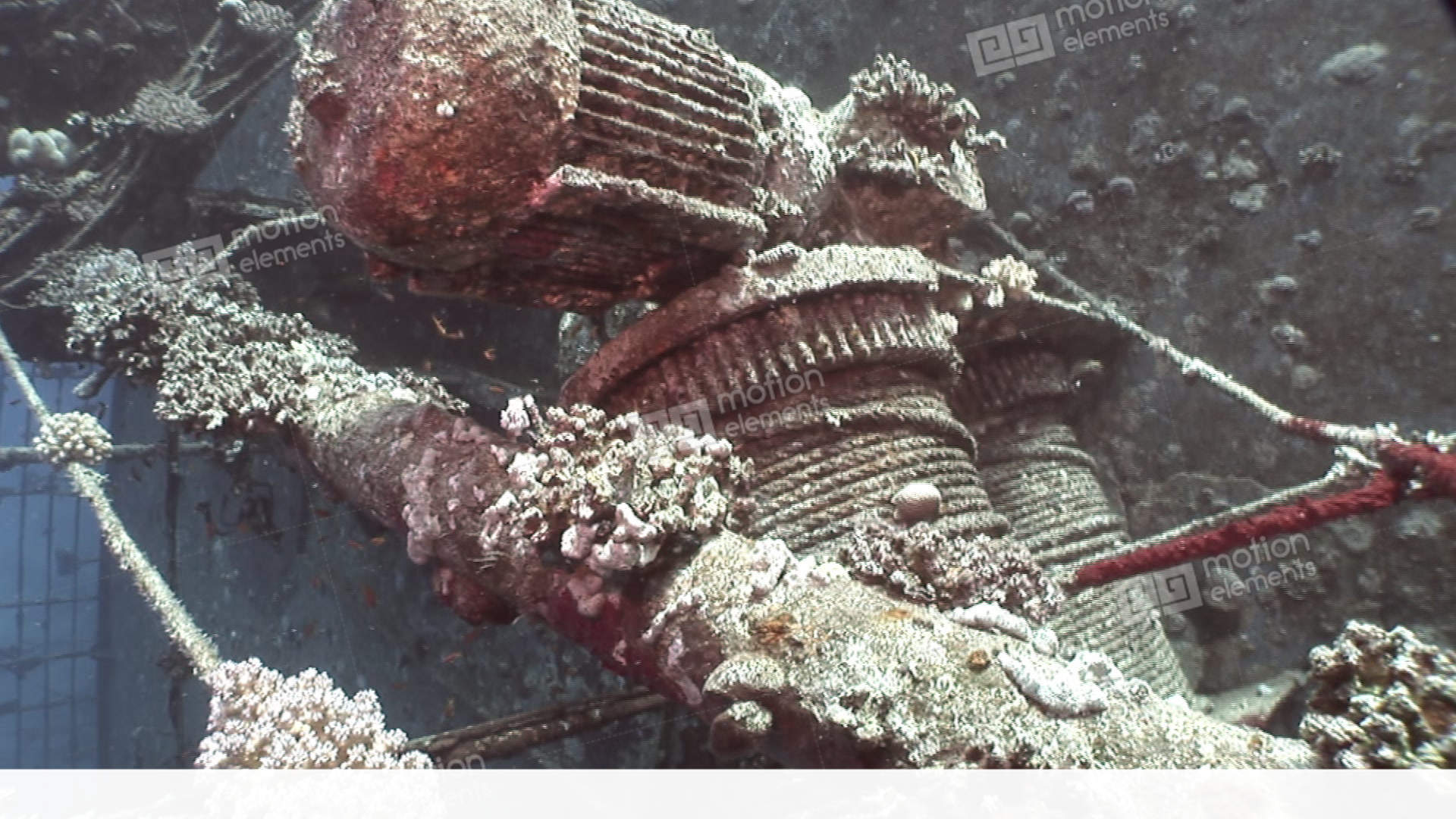Salem Express Shipwrecks Underwater In The Red Sea In Egypt Stock