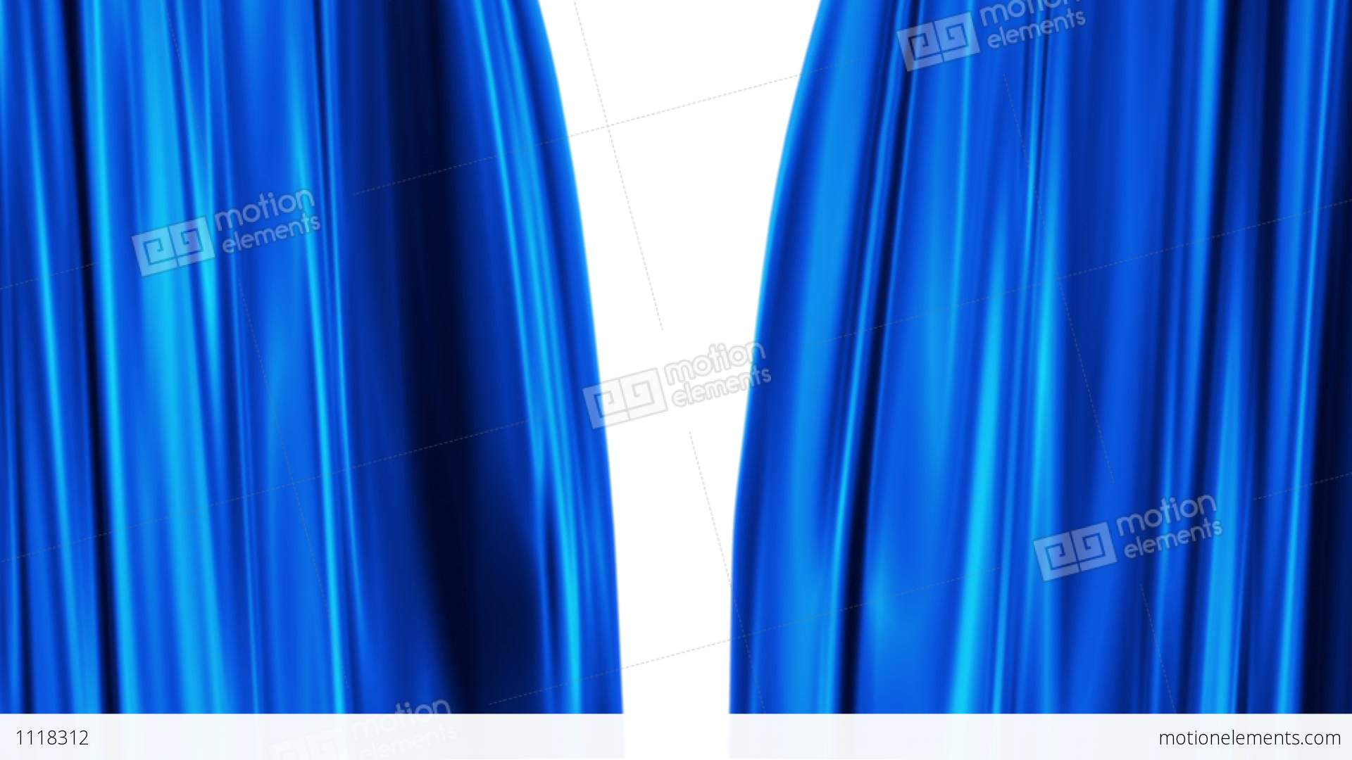 Cobalt blue curtains - Blue Curtains Open White Background Stock Video Footage