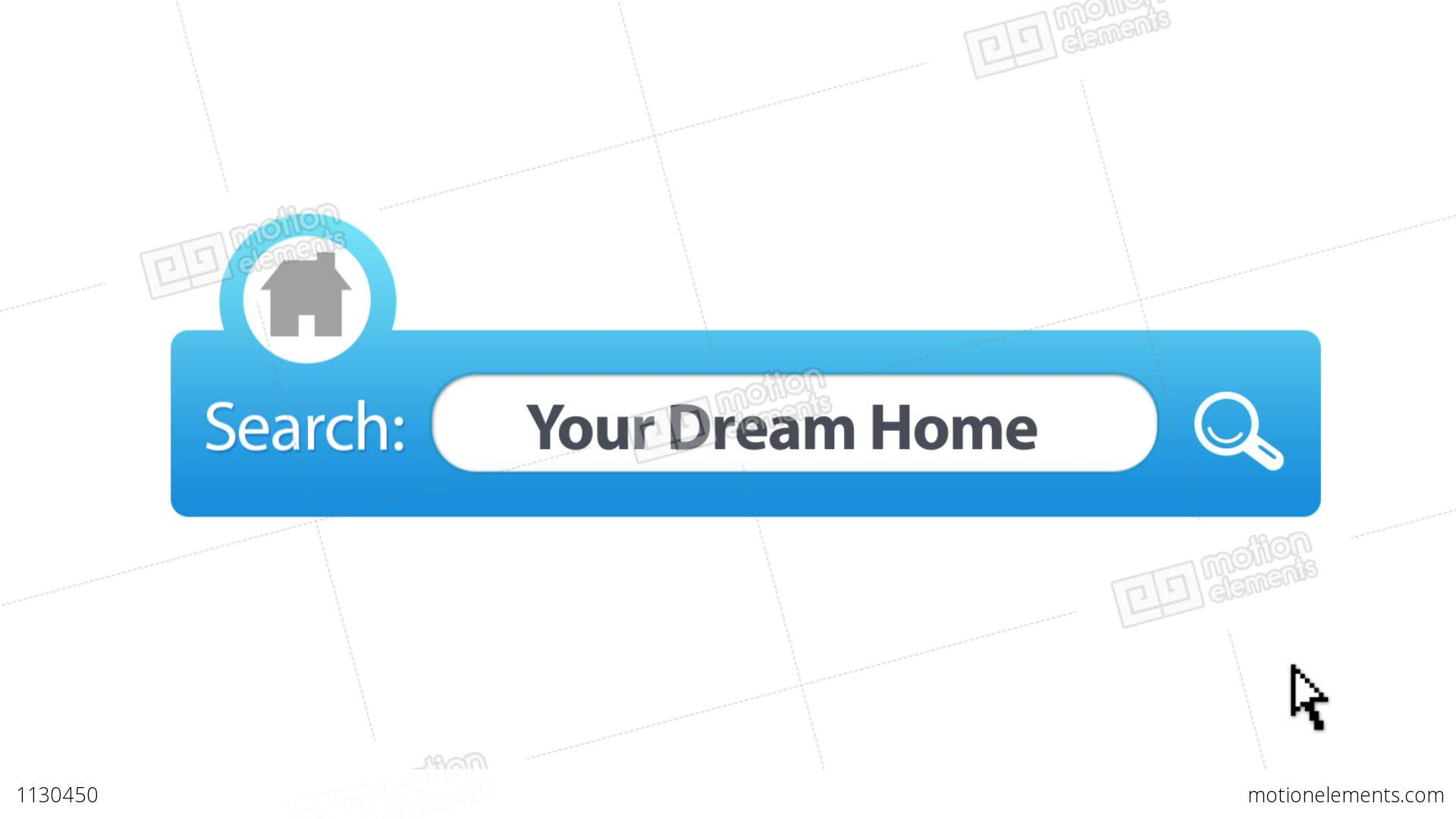 Search Your Dream Home Stock Animation 1130450