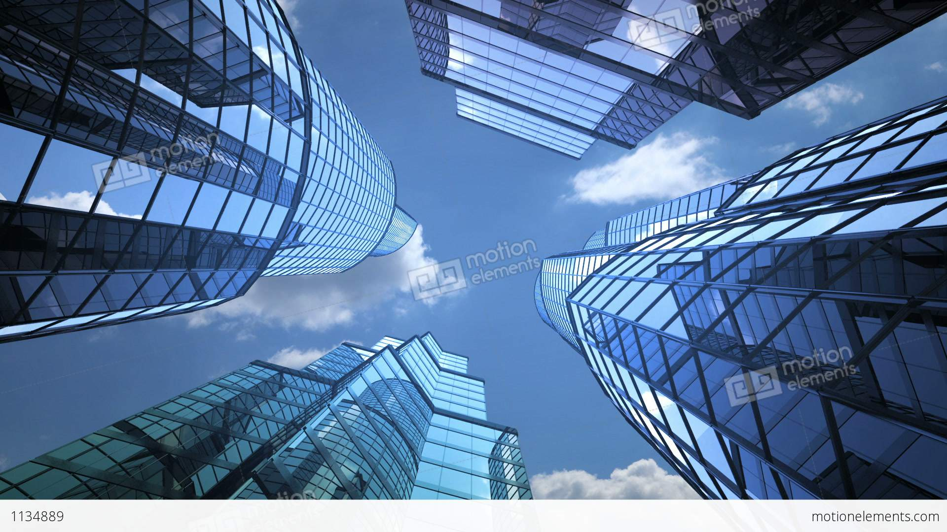 Business Background Skyscrapers And Sky Stock Animation 1134889