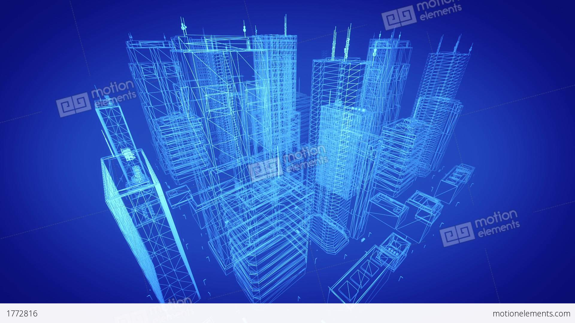 Architectural Blueprint Of Contemporary Buildings Blue Tint Seo