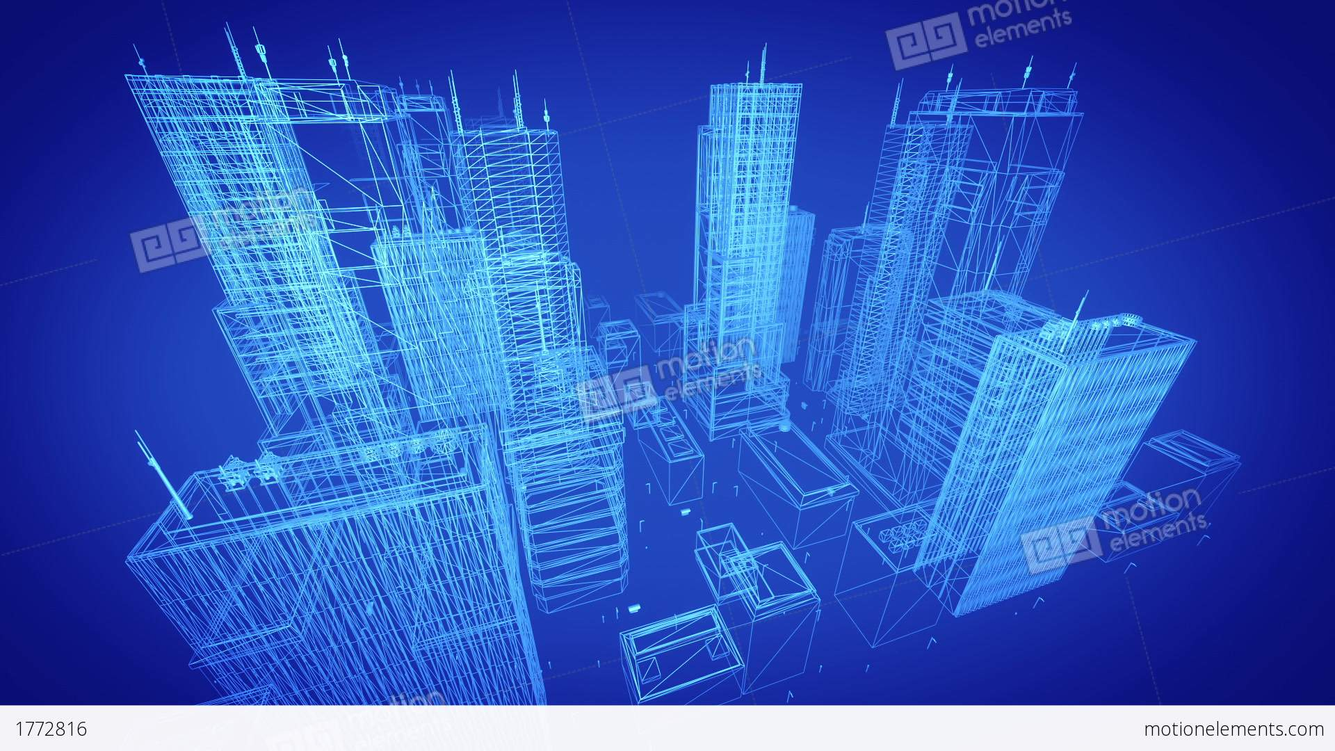 Architectural blueprint of contemporary buildings blue tint stock architectural blueprint of contemporary buildings blue tint stock video footage malvernweather Images