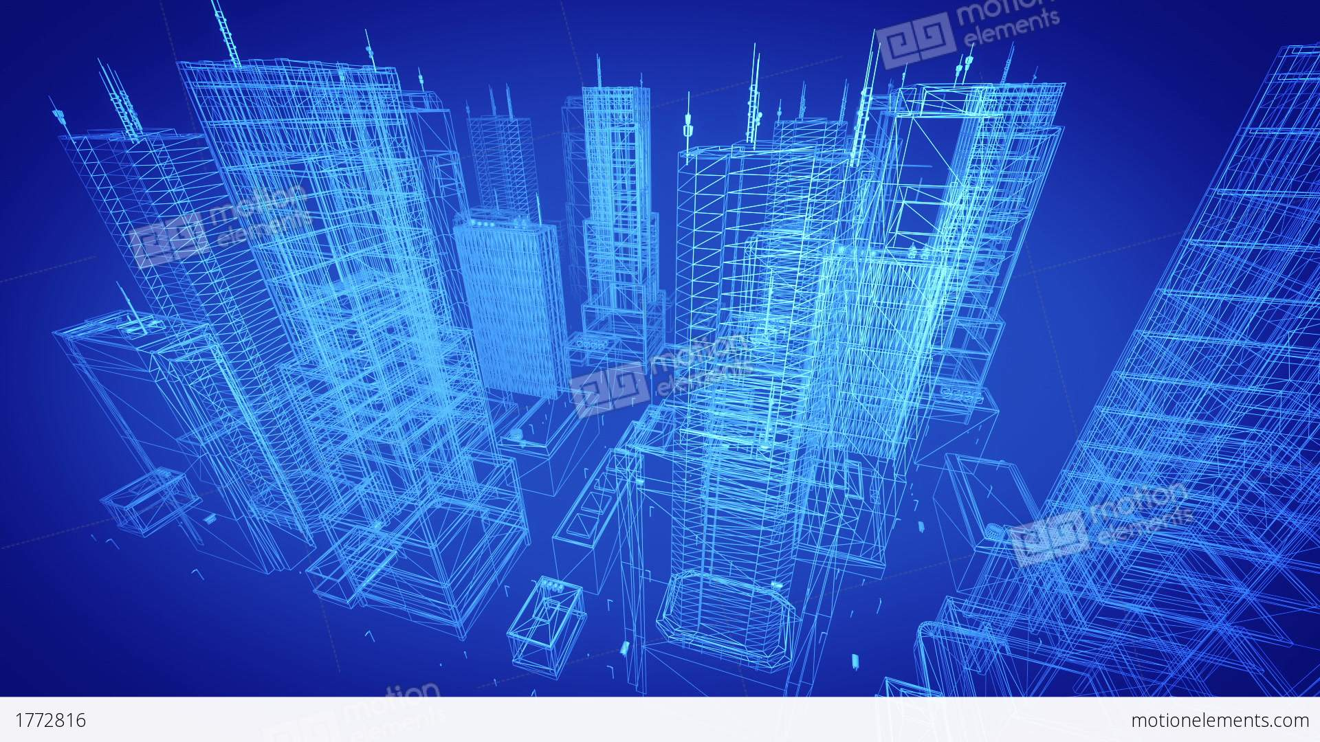buildings blueprint architectural contemporary gold tint backgrounds business architecture animation royalty