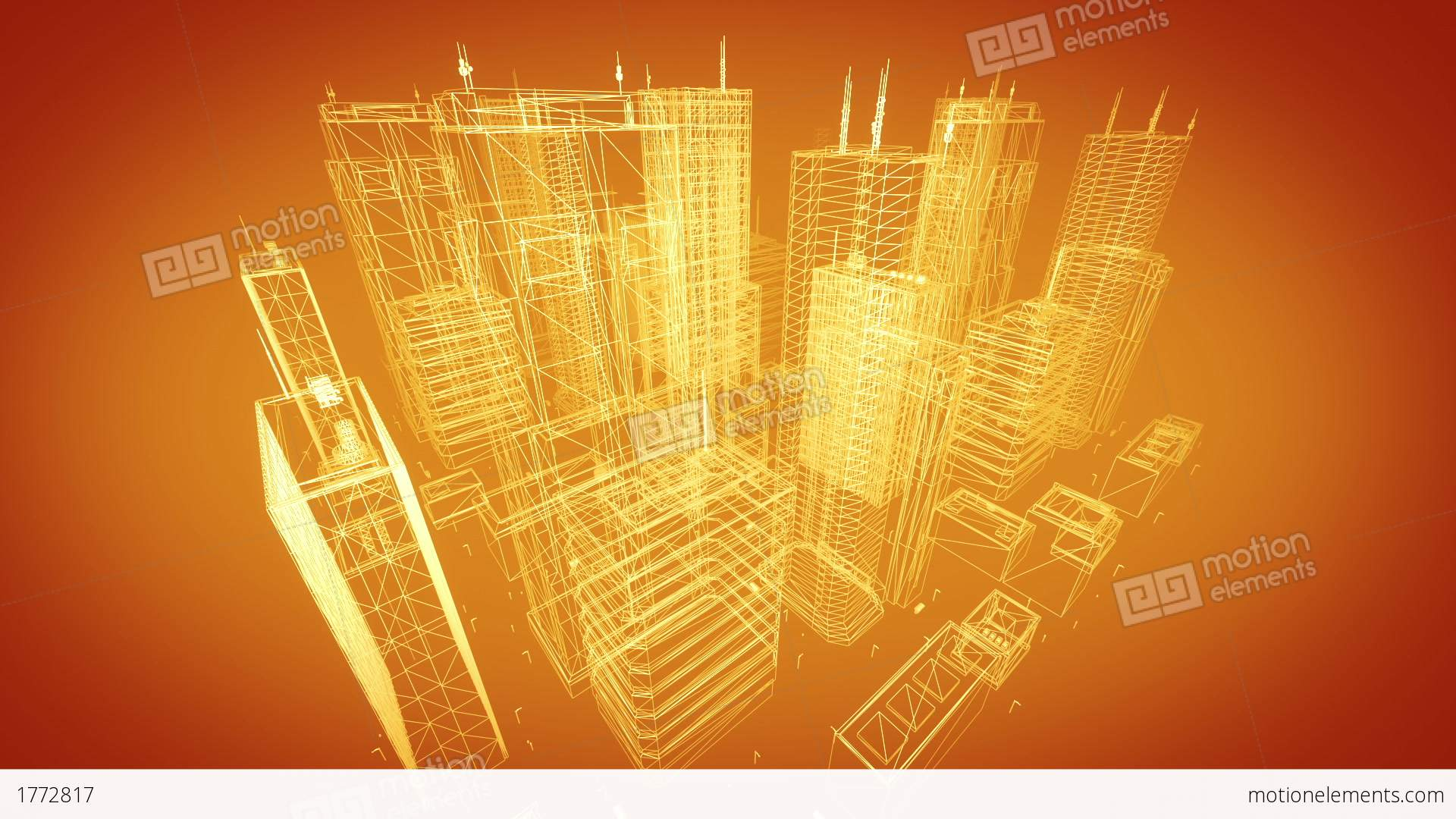 Architectural blueprint of contemporary buildings gold tint stock architectural blueprint of contemporary buildings gold tint stock video footage malvernweather Images