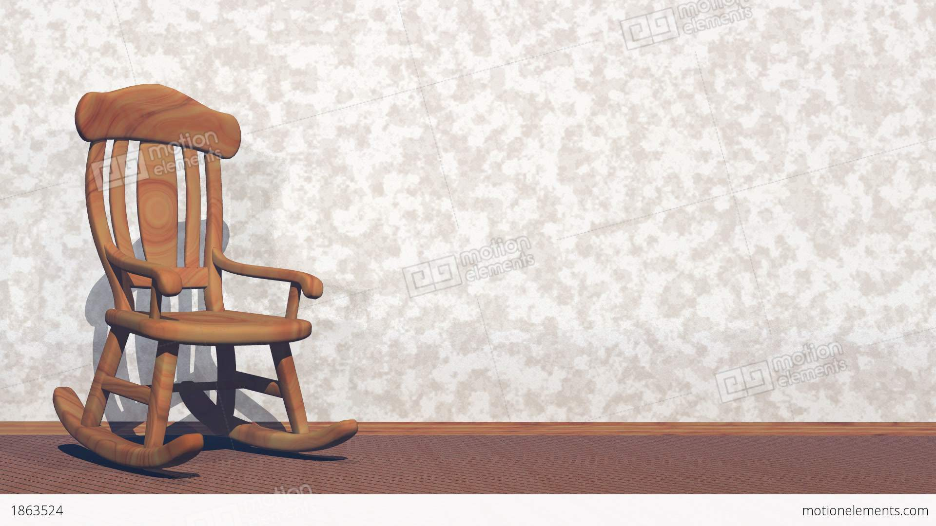 Swaying rocking chair d render stock animation