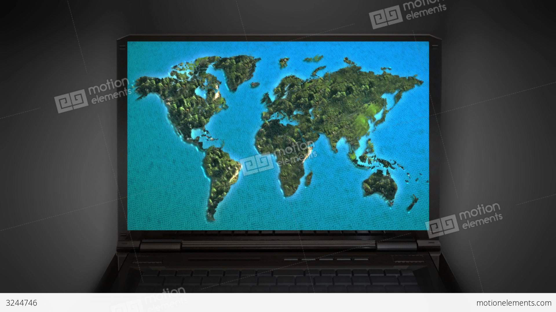 Map Of Asia Video.Zoom In To Asia Map Stock Animation 3244746
