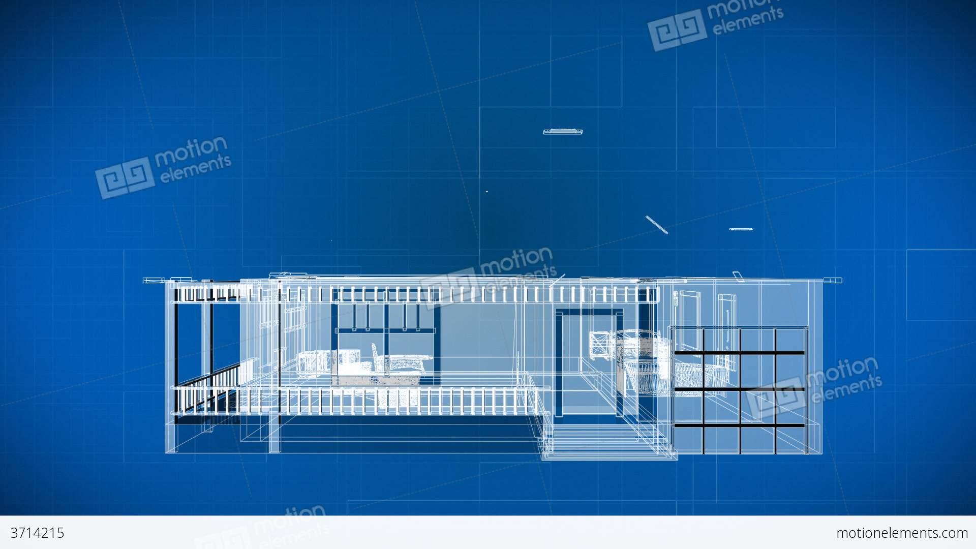 Wire 3d Building Blueprints Stock Video Footage 3714215