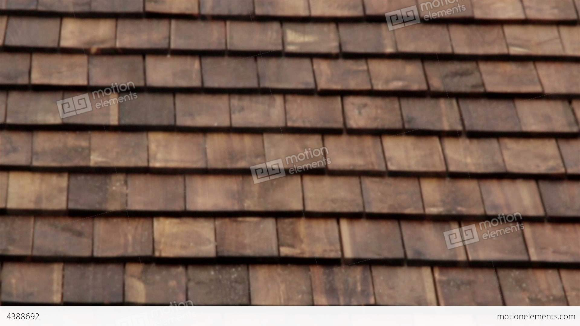 Cedar Wooden Shingles Roof Roofing Roofs Tiles Stock Video