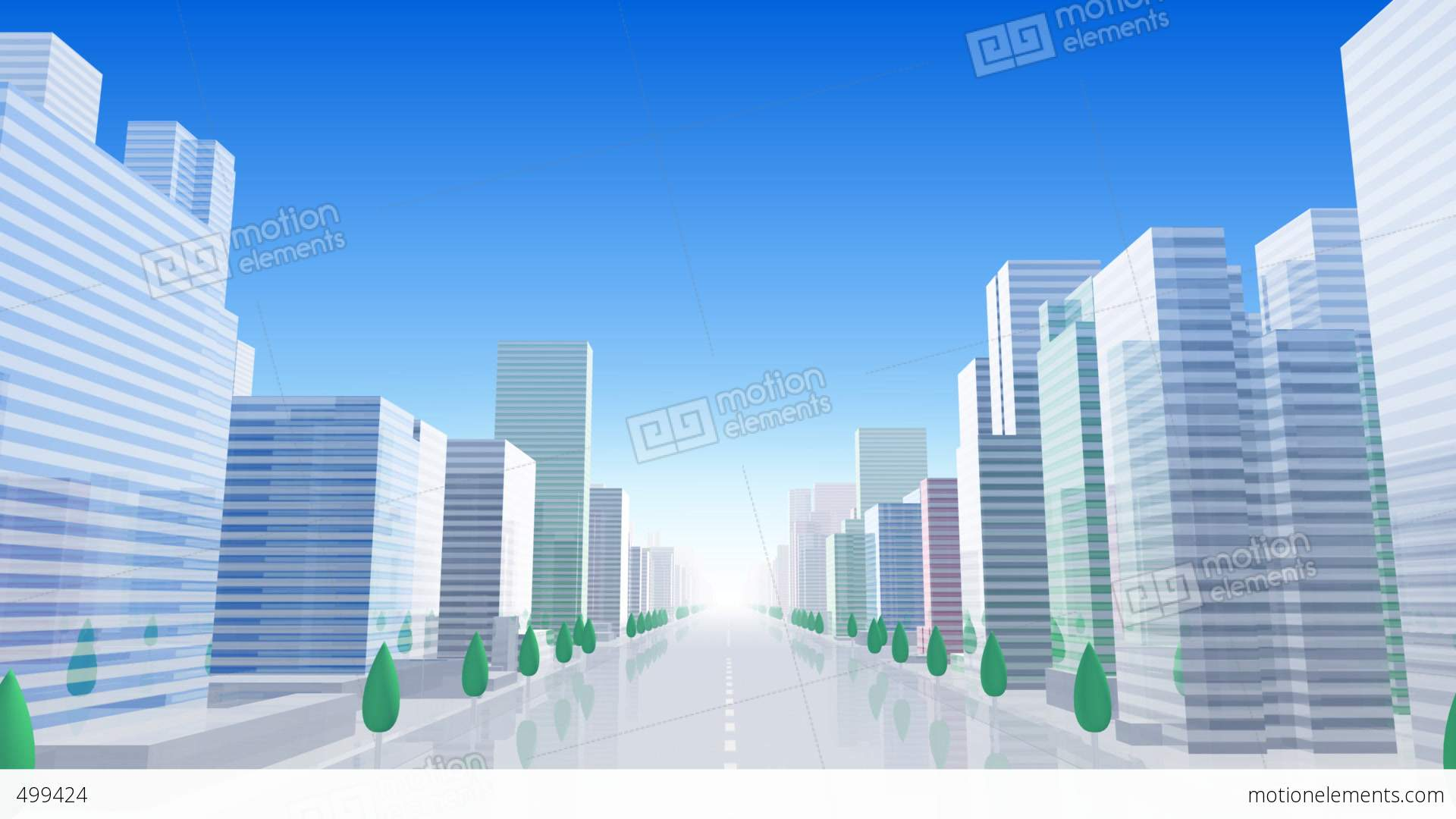 City Building BCL01B HD Stock Animation | 499424