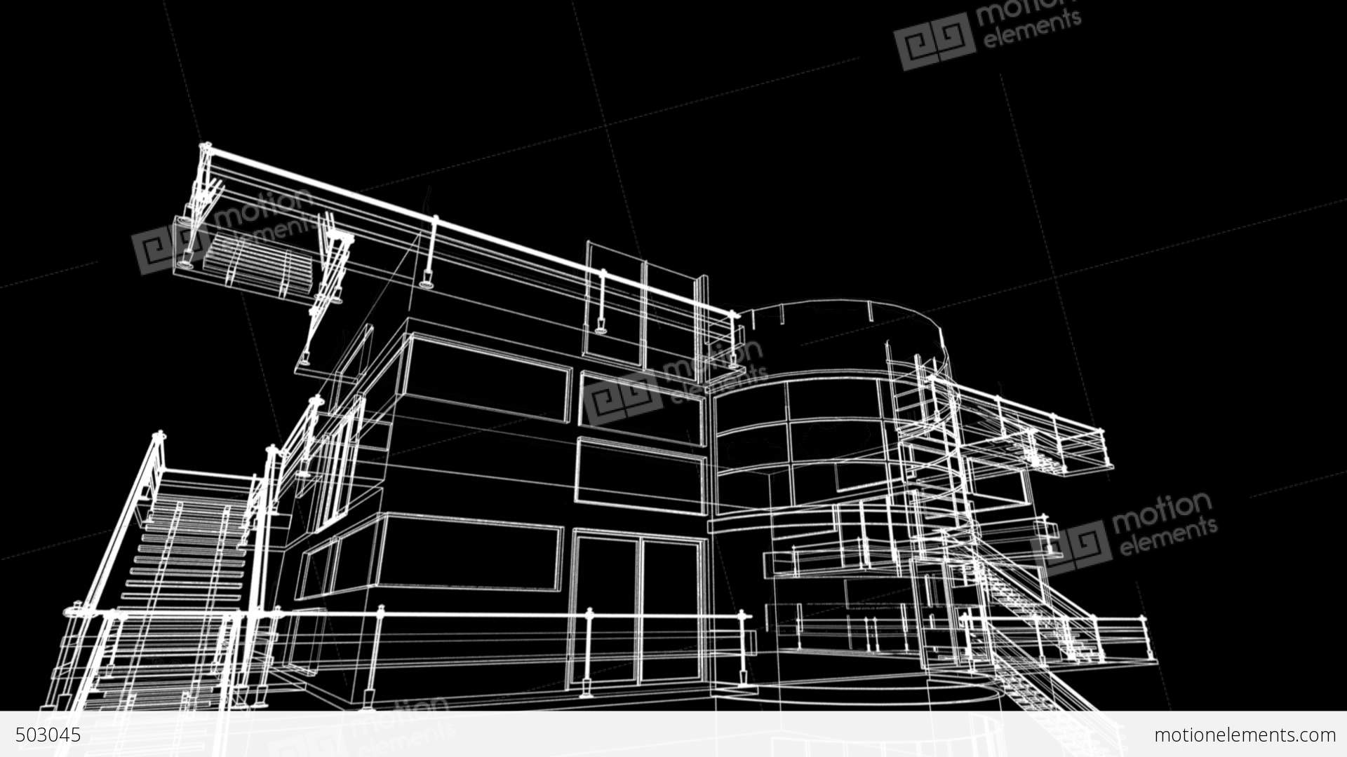 Building sketch construction stock animation 503045 Blueprint designer free