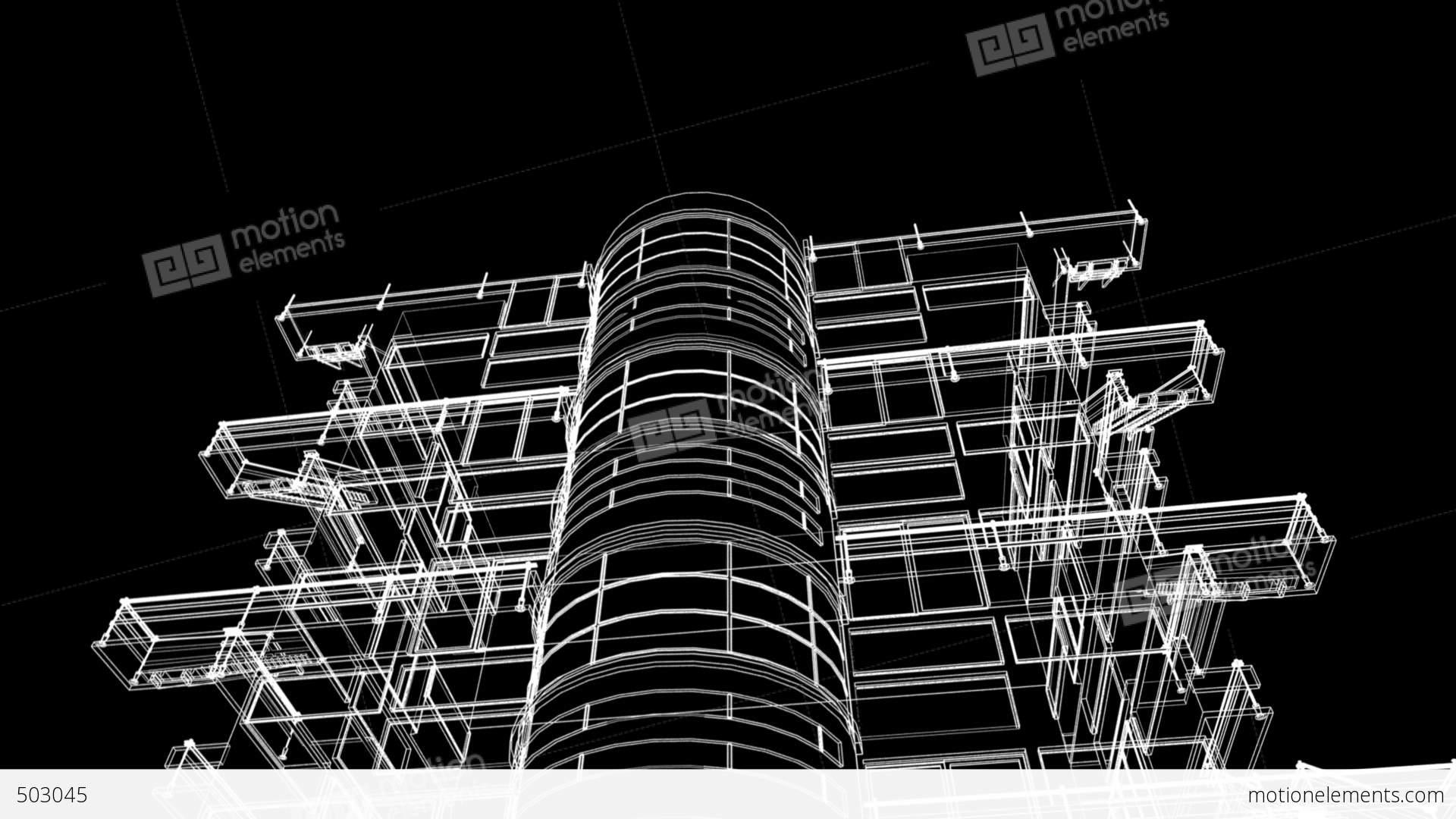 building sketch construction stock animation 503045