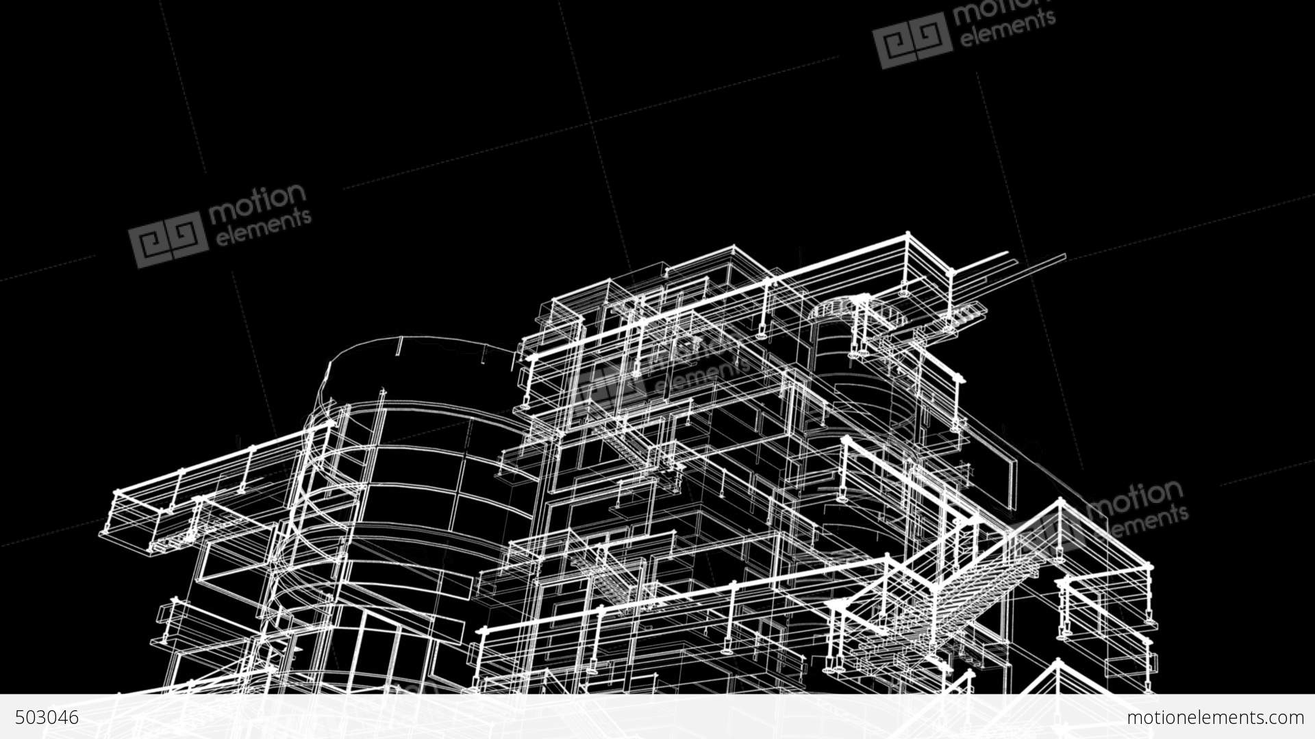 architecture sketch wallpaper. Building Sketch Grow Stock Video Footage Architecture Wallpaper