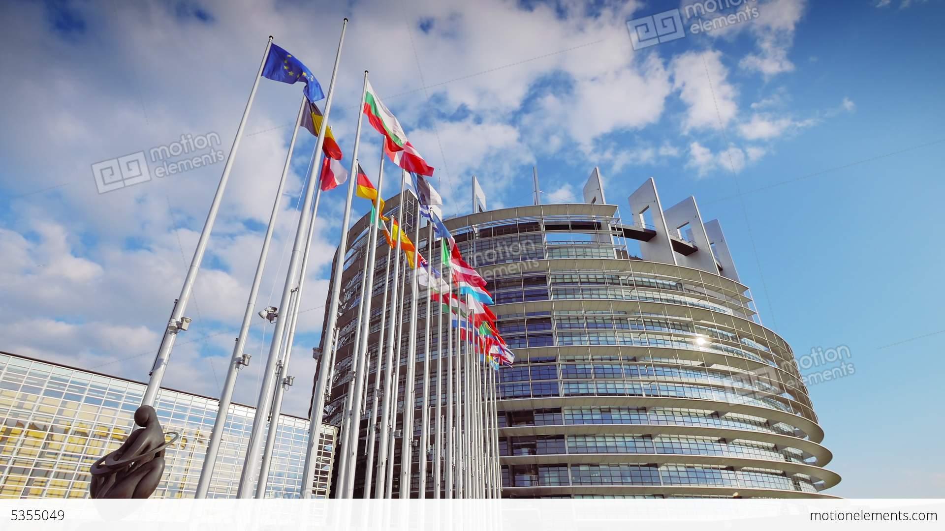 4k european parliament building in strasbourg stock video for K architecture strasbourg