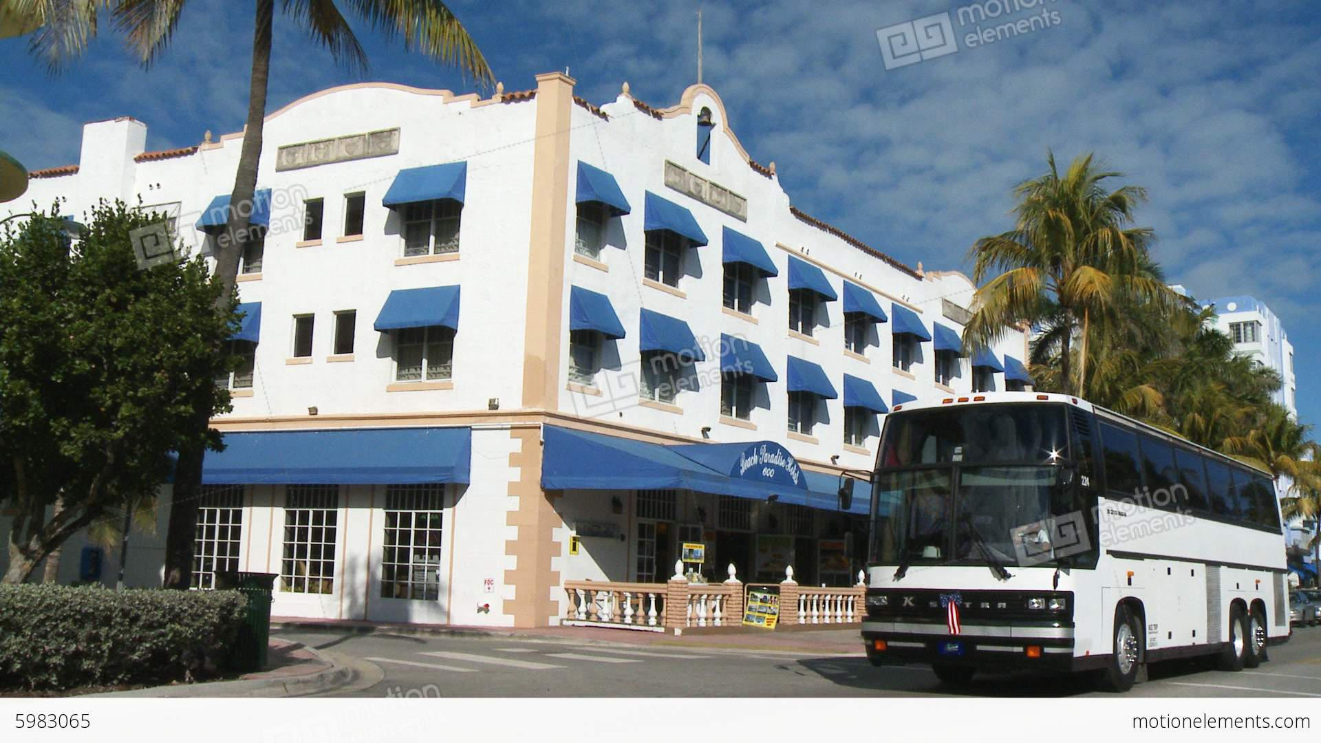 Beach Paradise Hotel On South Stock Video Footage