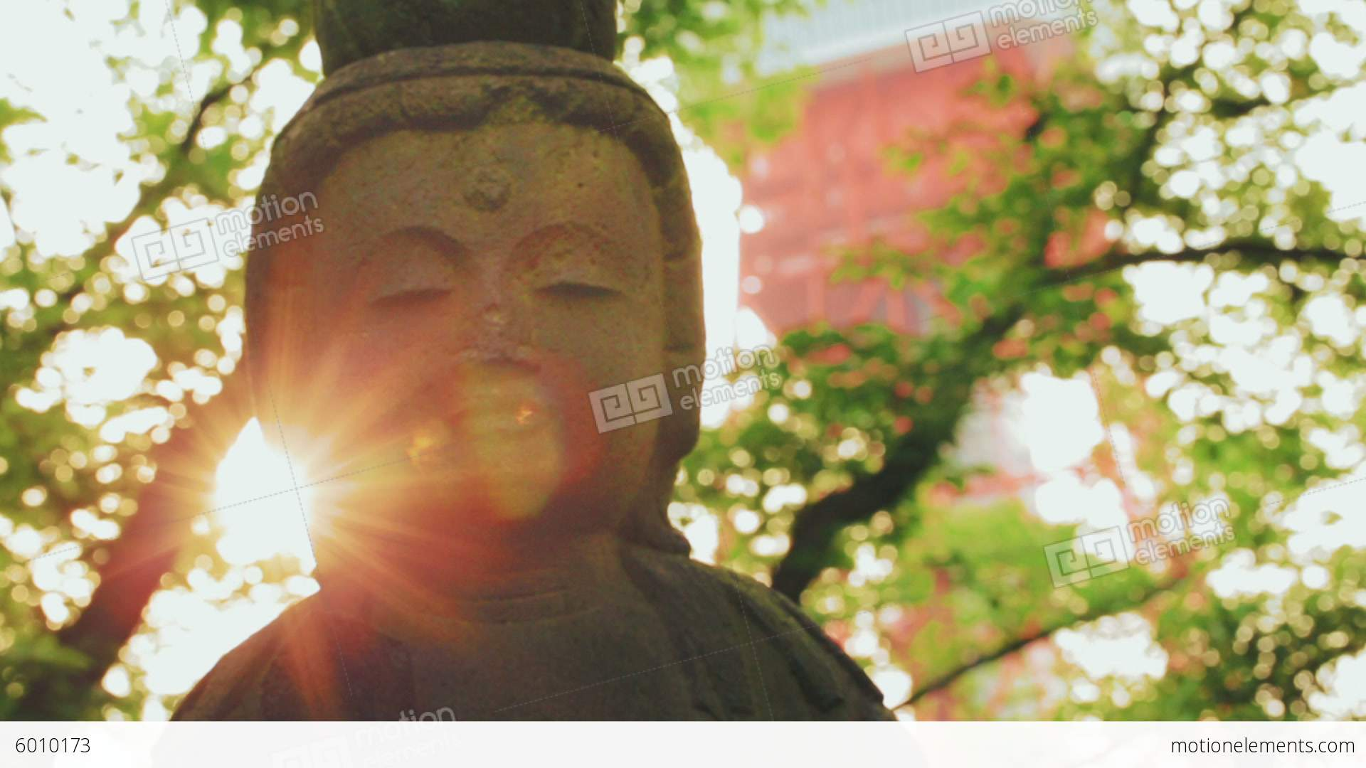 Ancient Buddhist Statue Dolly Rack-focus Shot With Stock Video ...