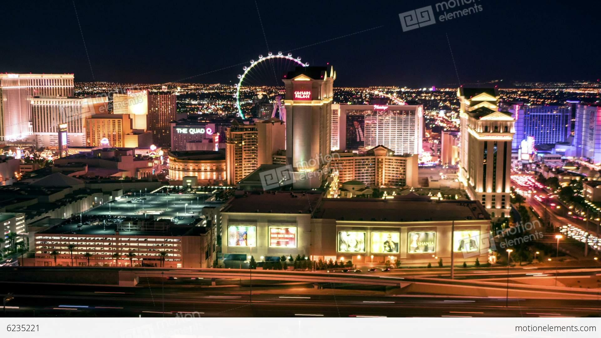 las vegas skyline panning night time lapse stock video footage 6235221. Black Bedroom Furniture Sets. Home Design Ideas