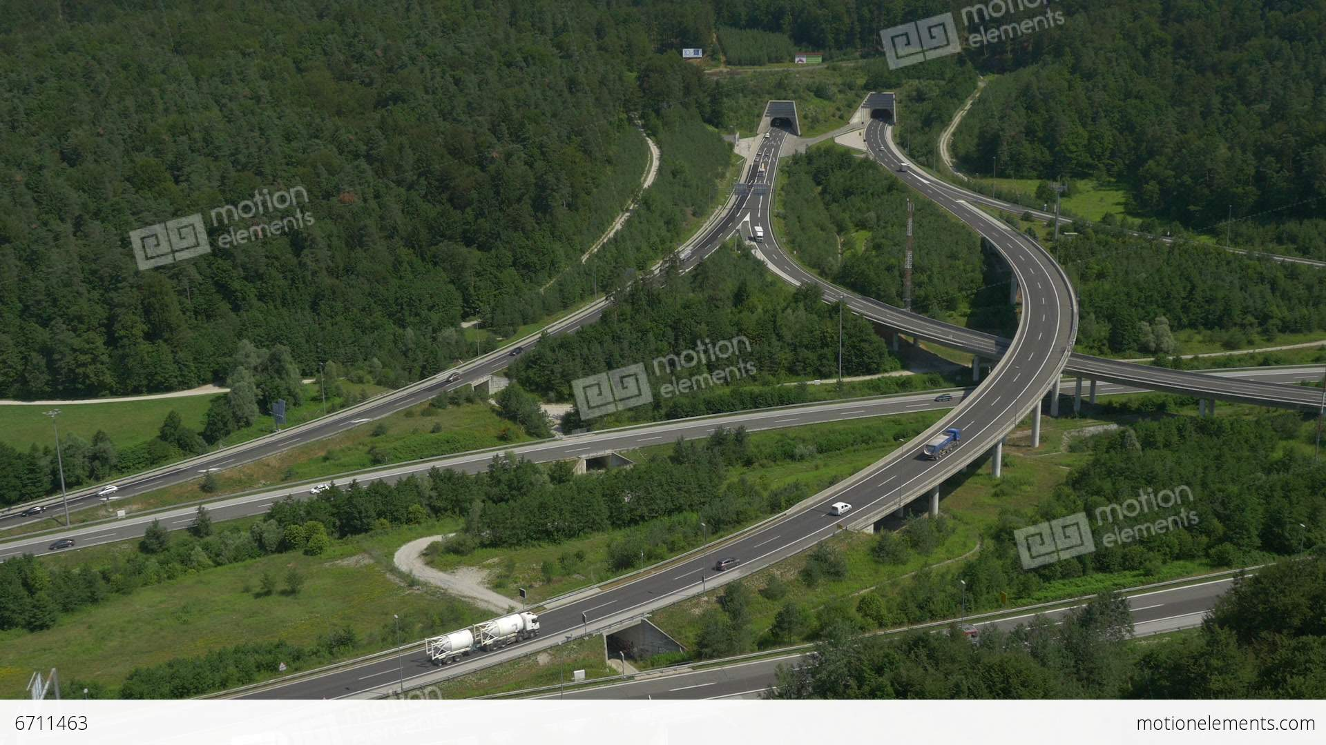 AERIAL: Highway Intersections Stock video footage | 6711463