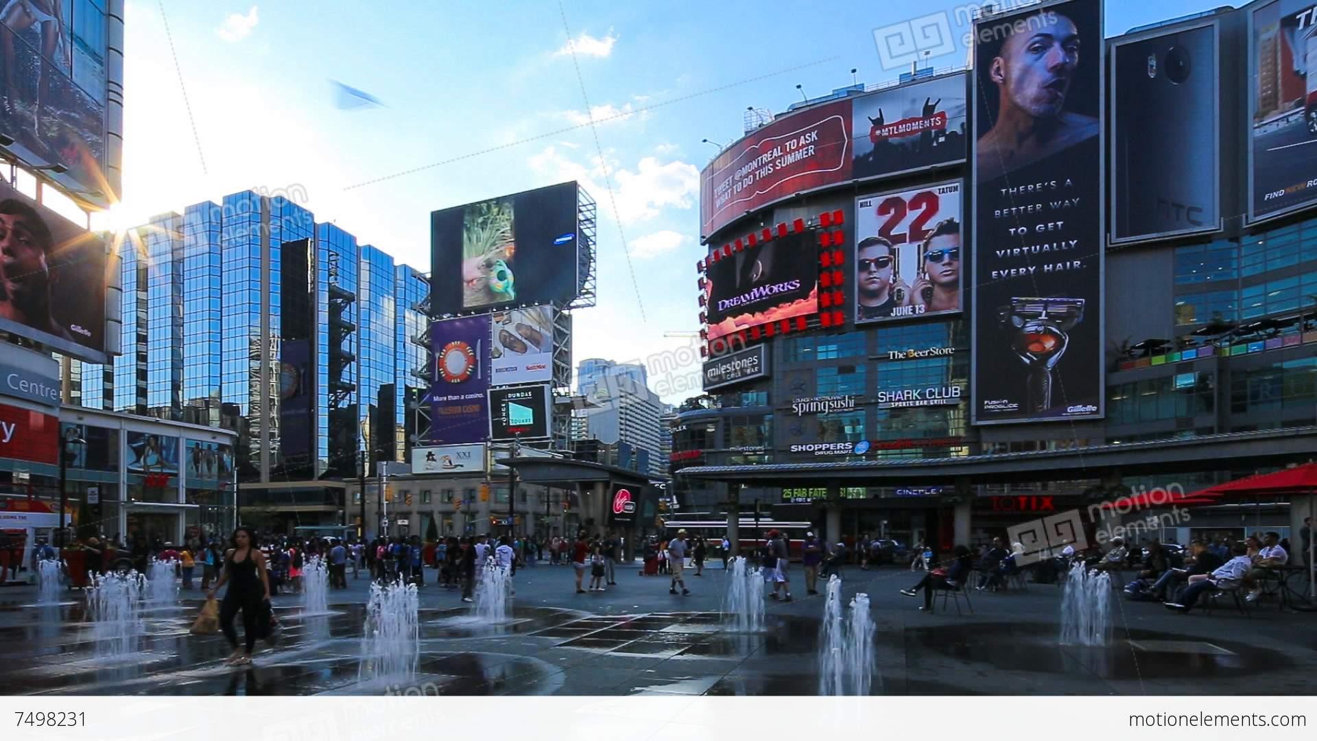 Yonge-Dundas Square, Toronto, Ontario, Canada Stock video ...