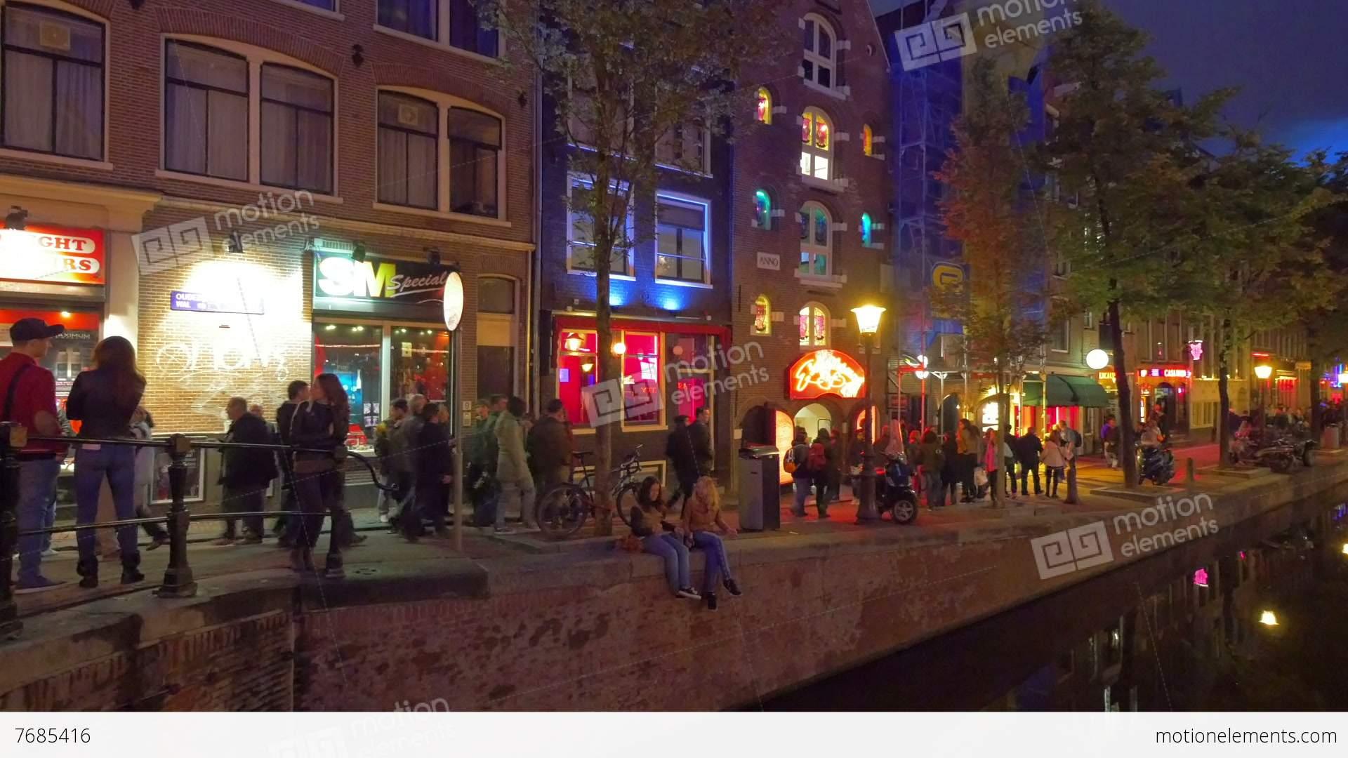 red light district amsterdam holland stock video footage 7685416. Black Bedroom Furniture Sets. Home Design Ideas