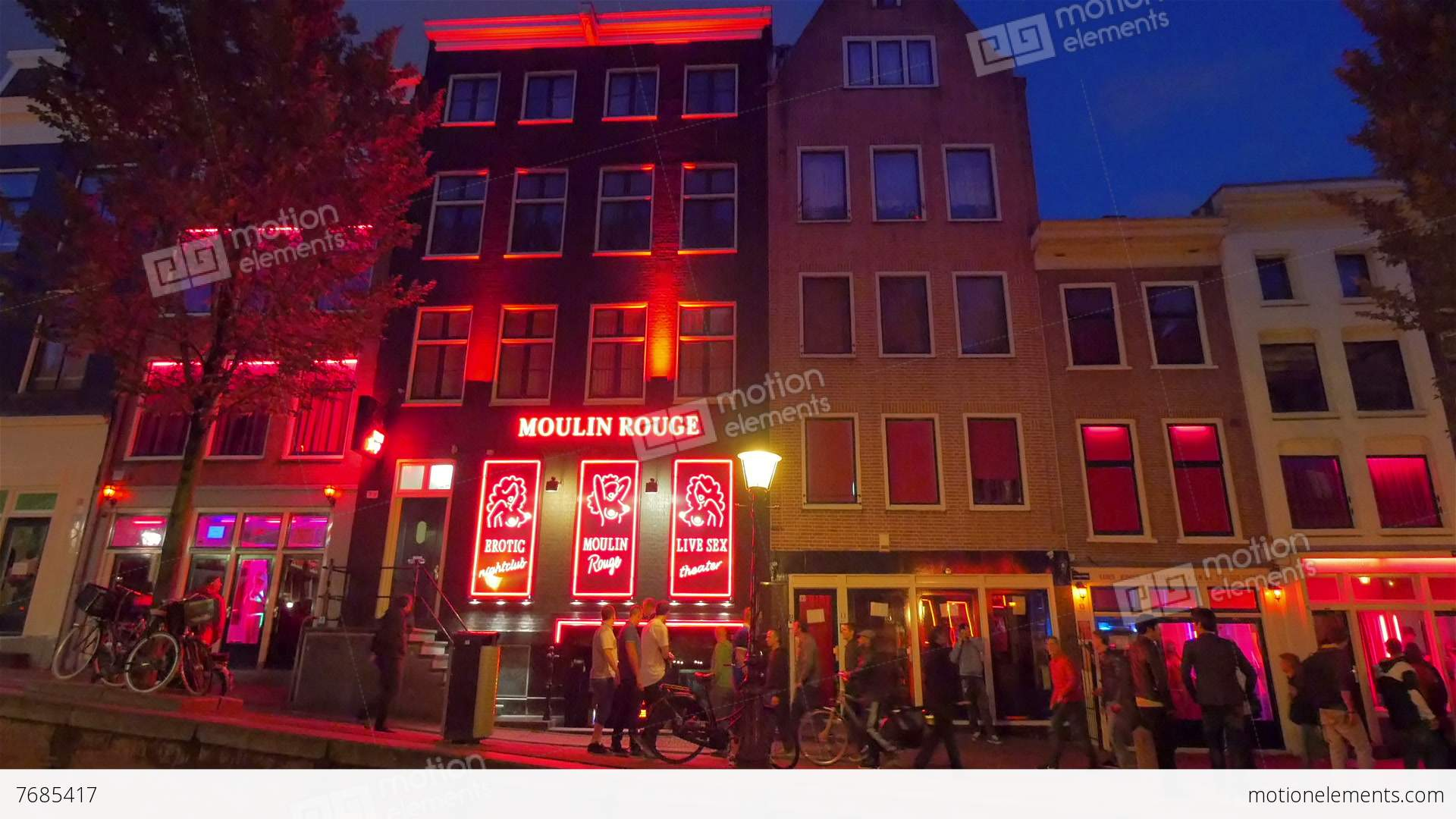 Red Light District, Amsterdam, Holland Stock video footage ...
