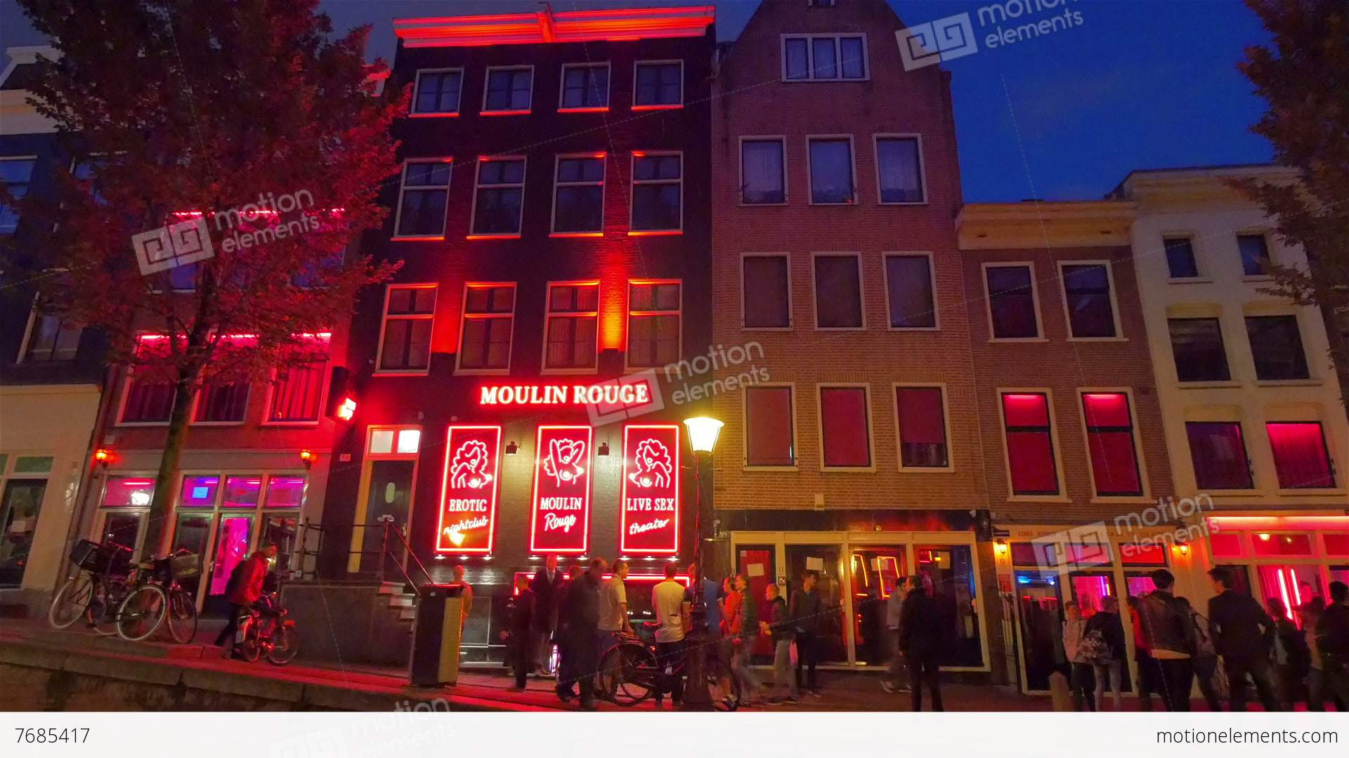Red Light District, Amsterdam, Holland Stock video footage