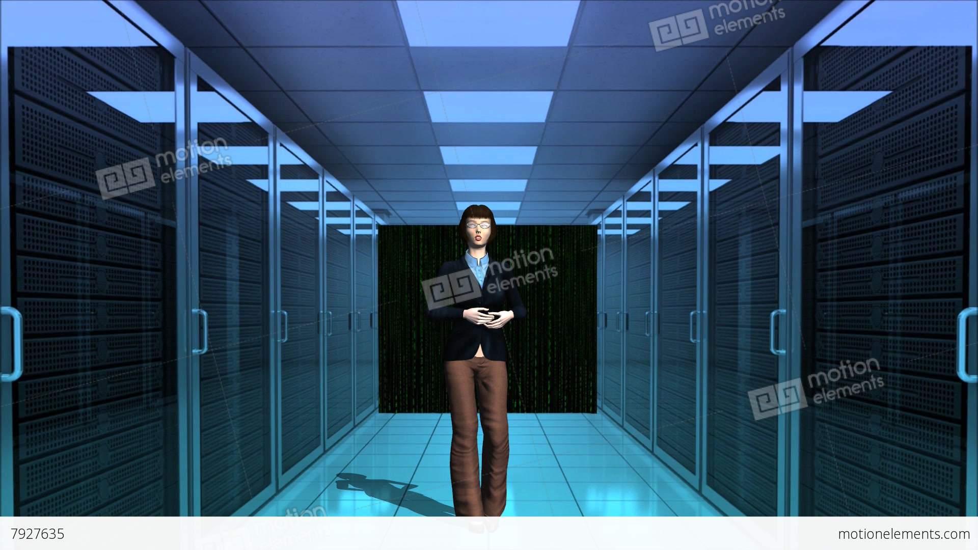 computer server room digital matrix numeric with officer company