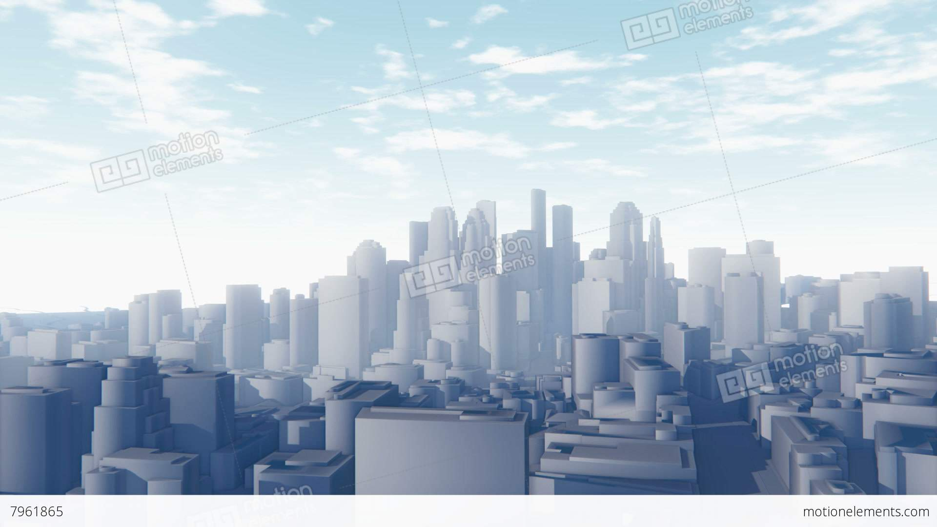 City Buildings In Background